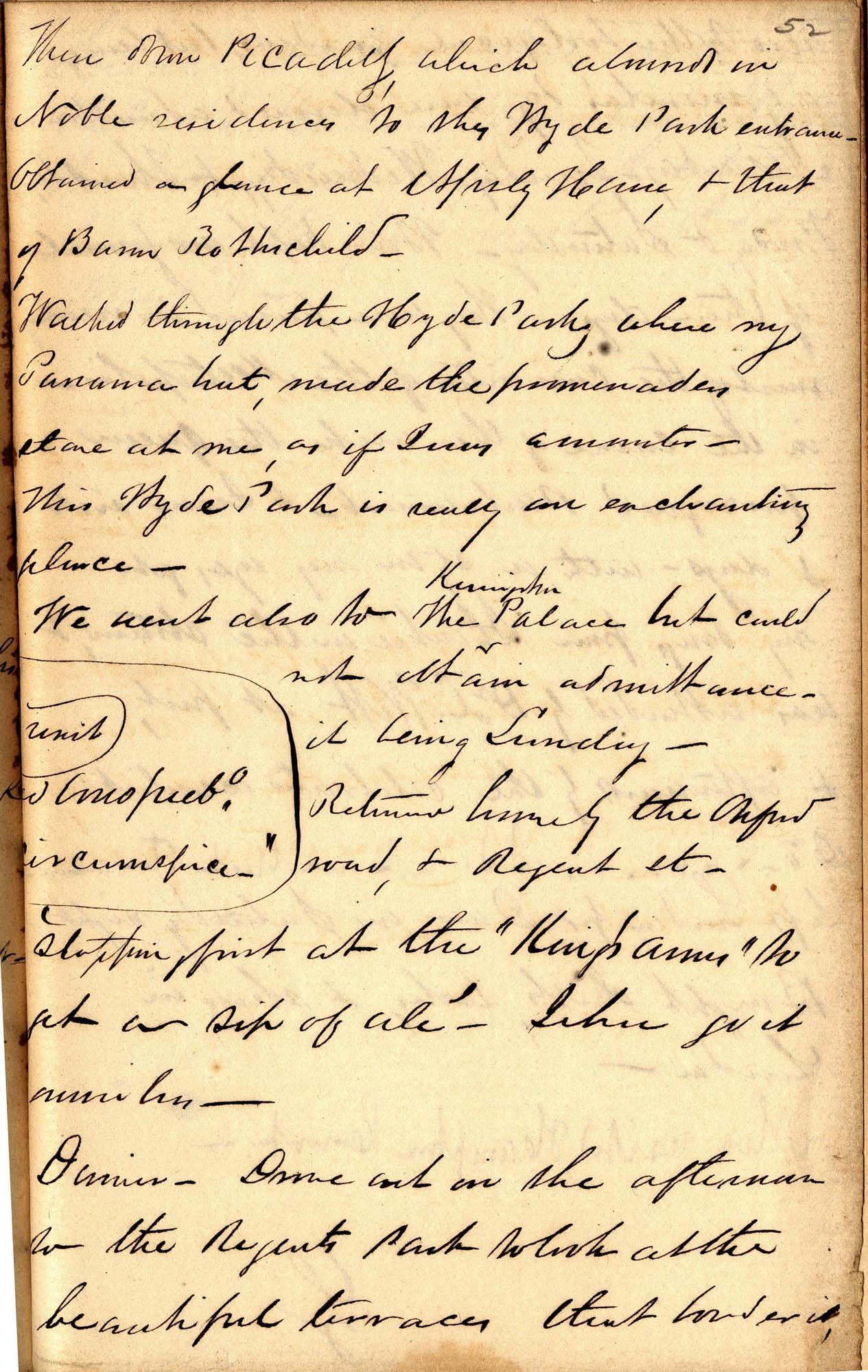 David Henry Mordecai Travel Diary (1850), Page 52