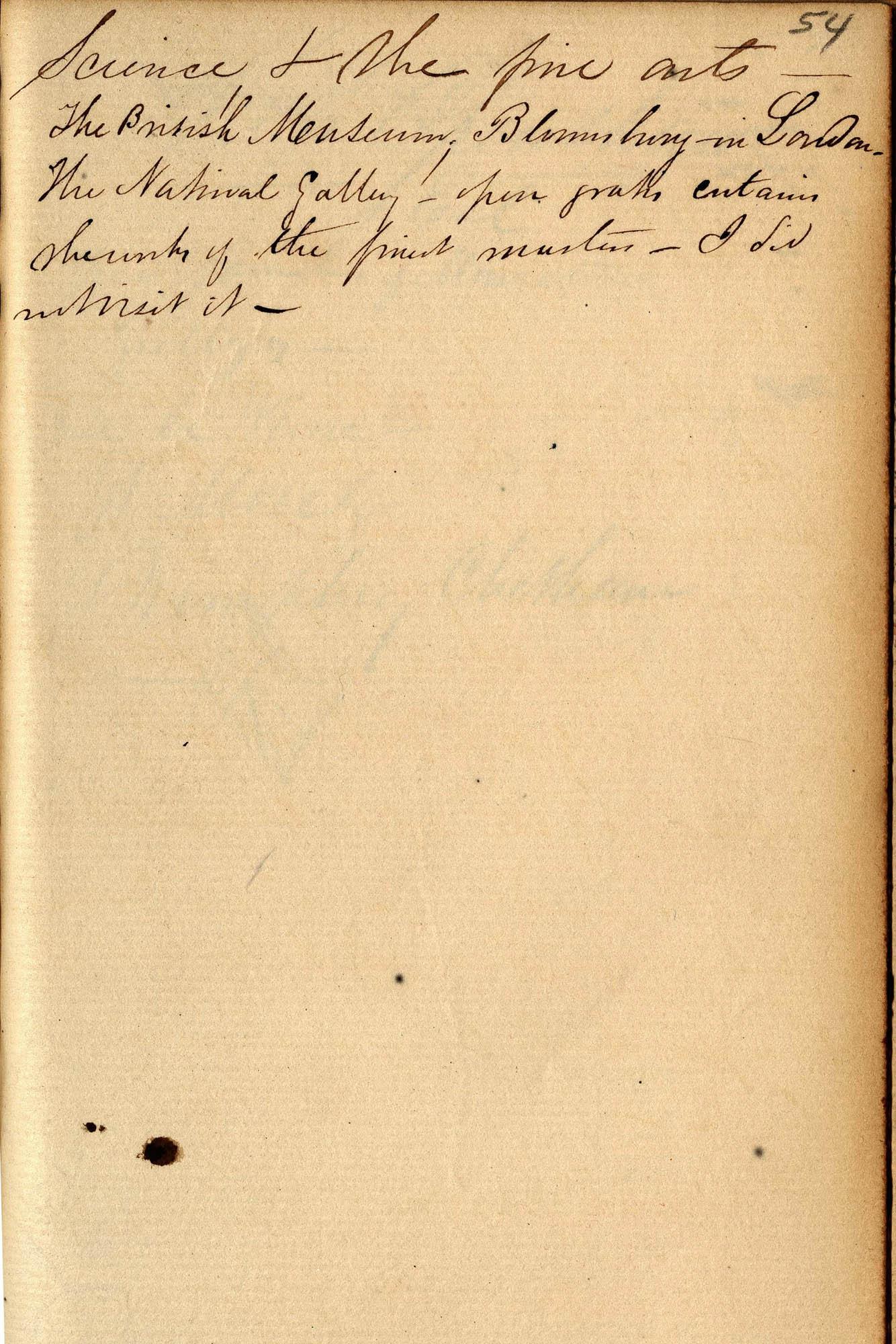 David Henry Mordecai Travel Diary (1850), Page 54