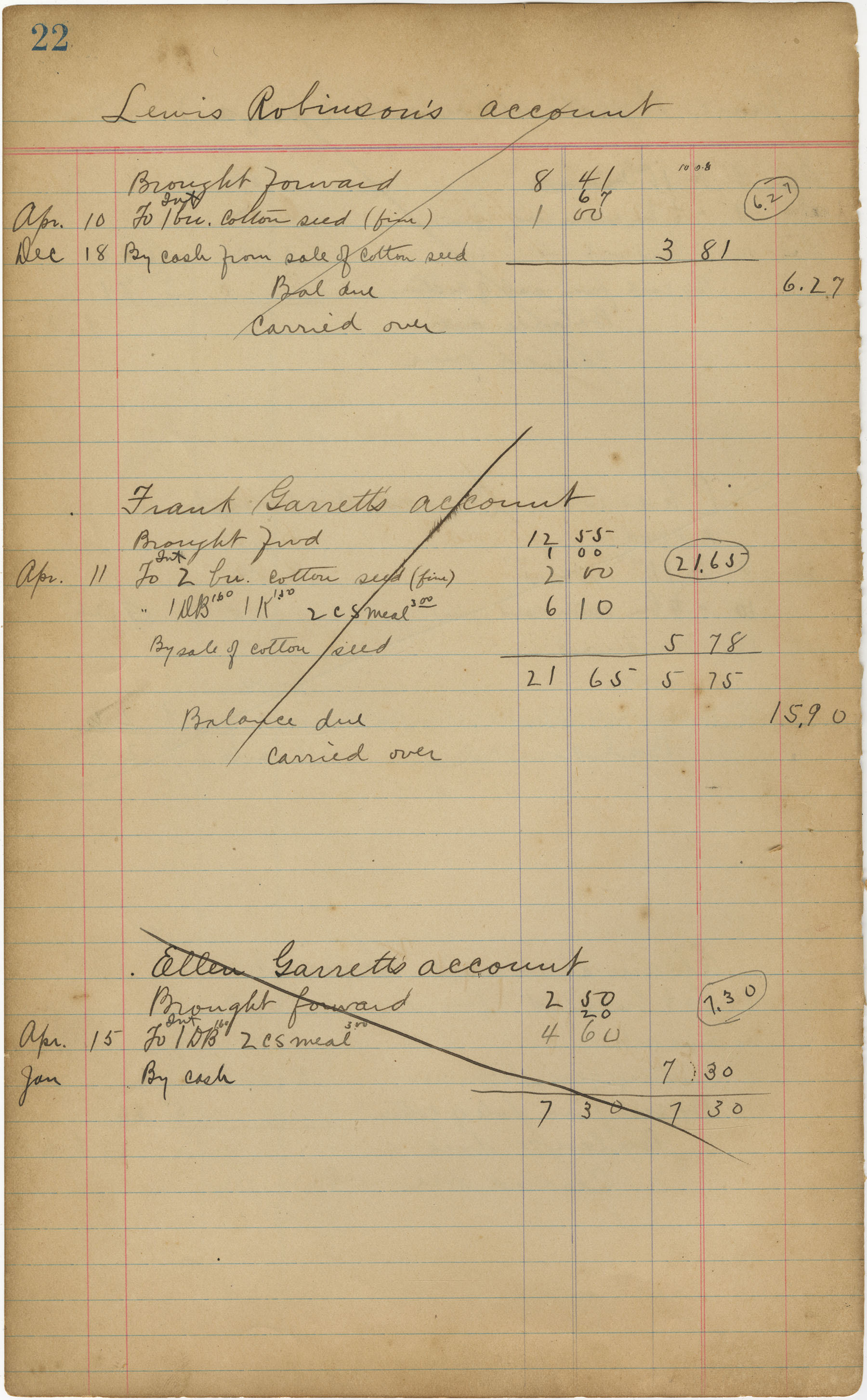 McLeod Plantation Journal, Page 41