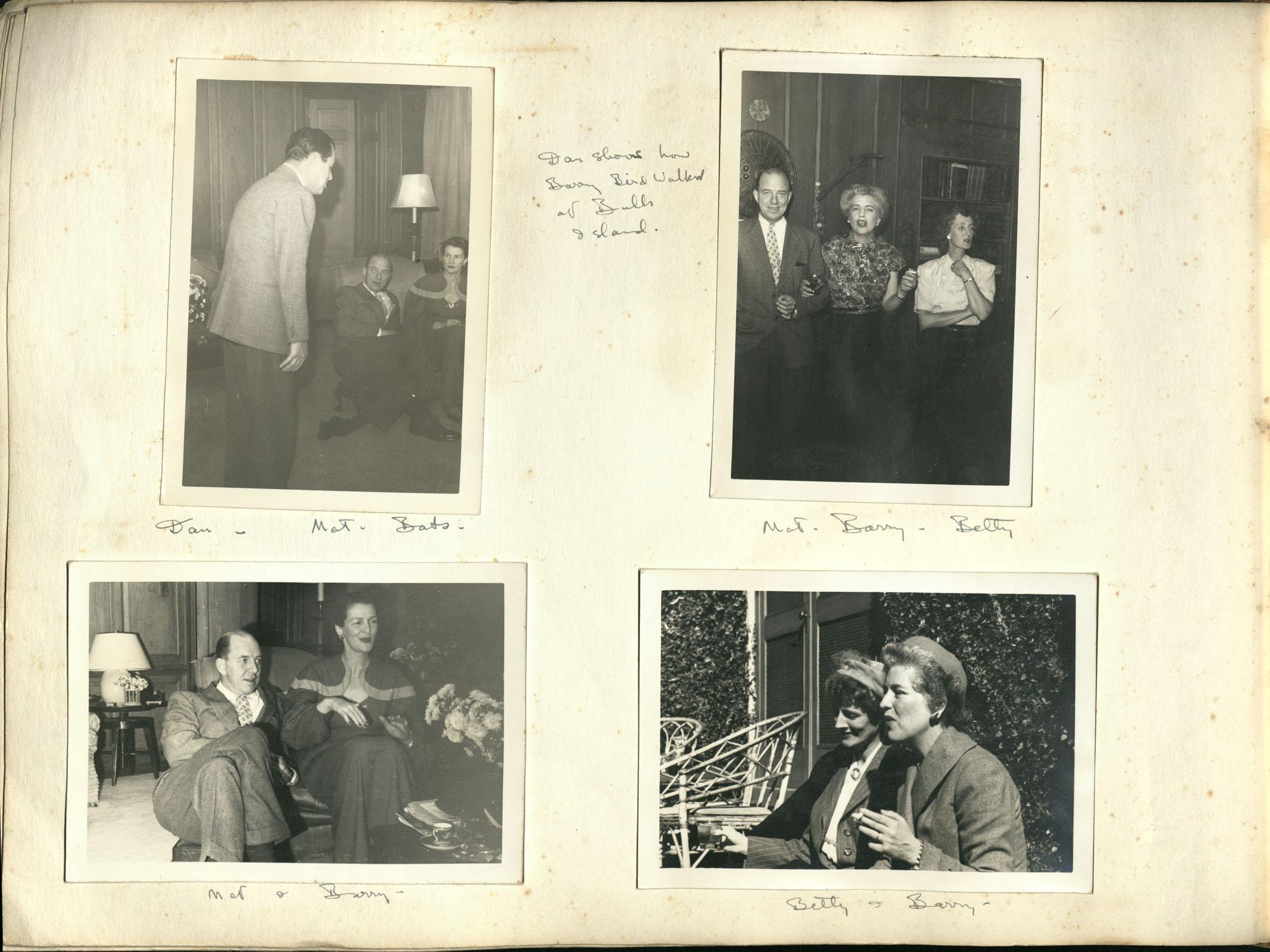 Medway Plantation Photograph Album, 1949, page 112