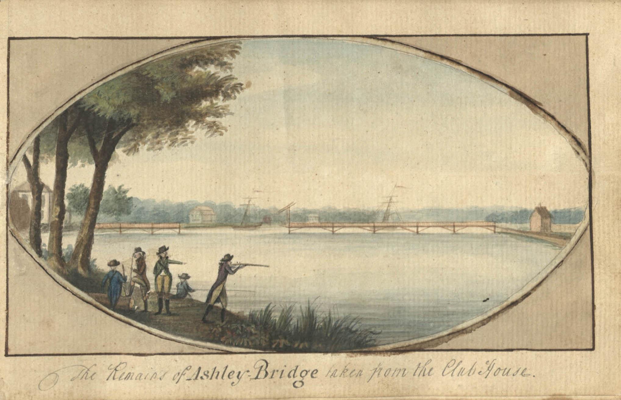Charles Fraser Sketchbook, 1793-1796, Ashley Bridge