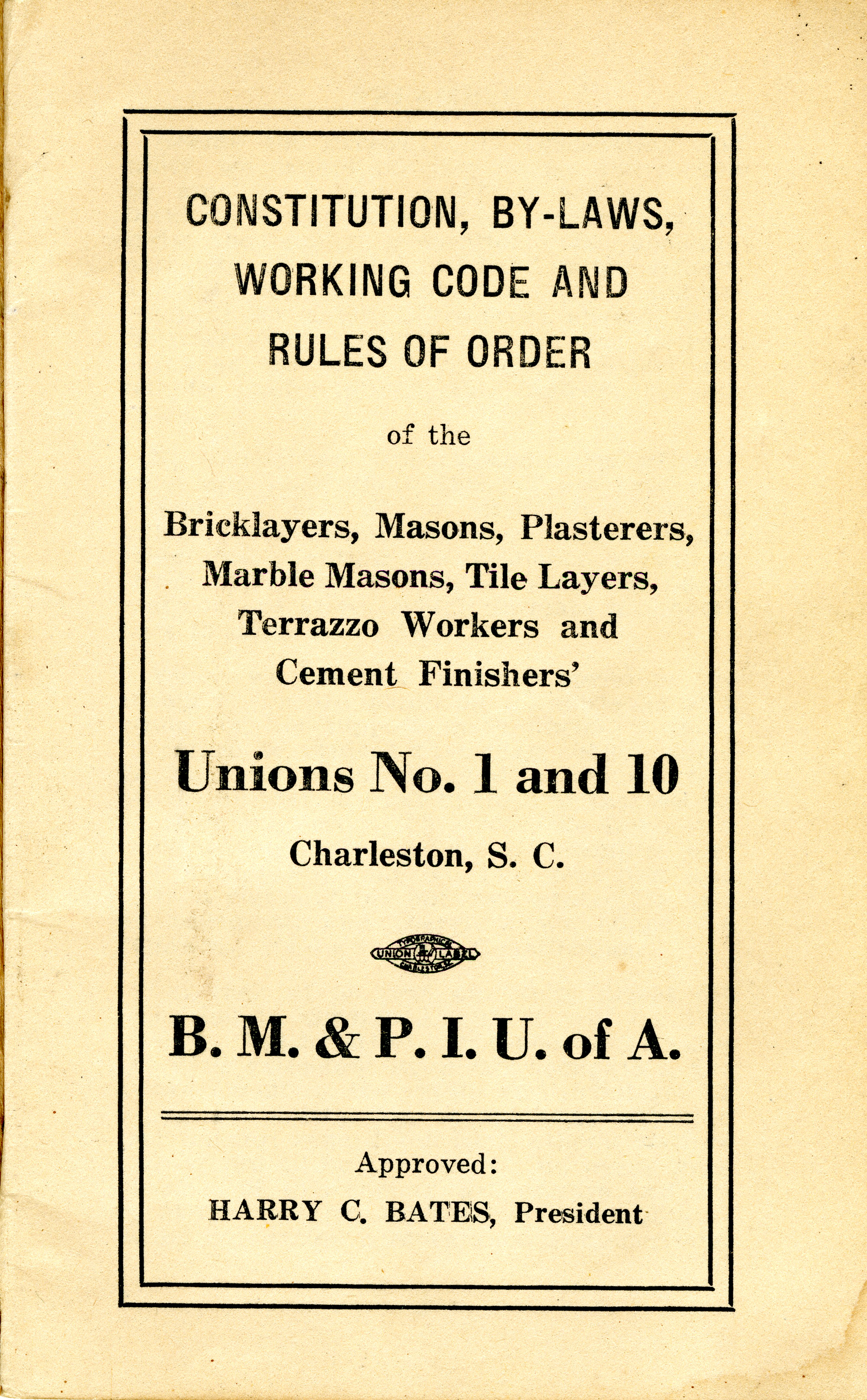 Constitution, by-laws, working code and rules of order, Page 1