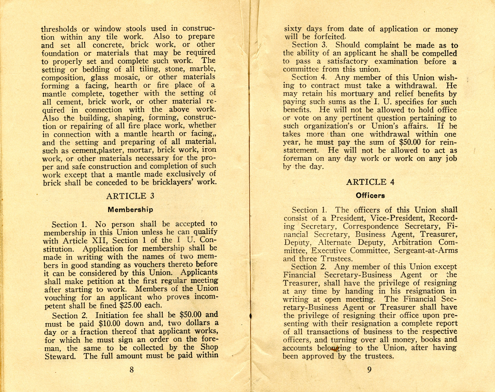 Constitution, by-laws, working code and rules of order, Page 5
