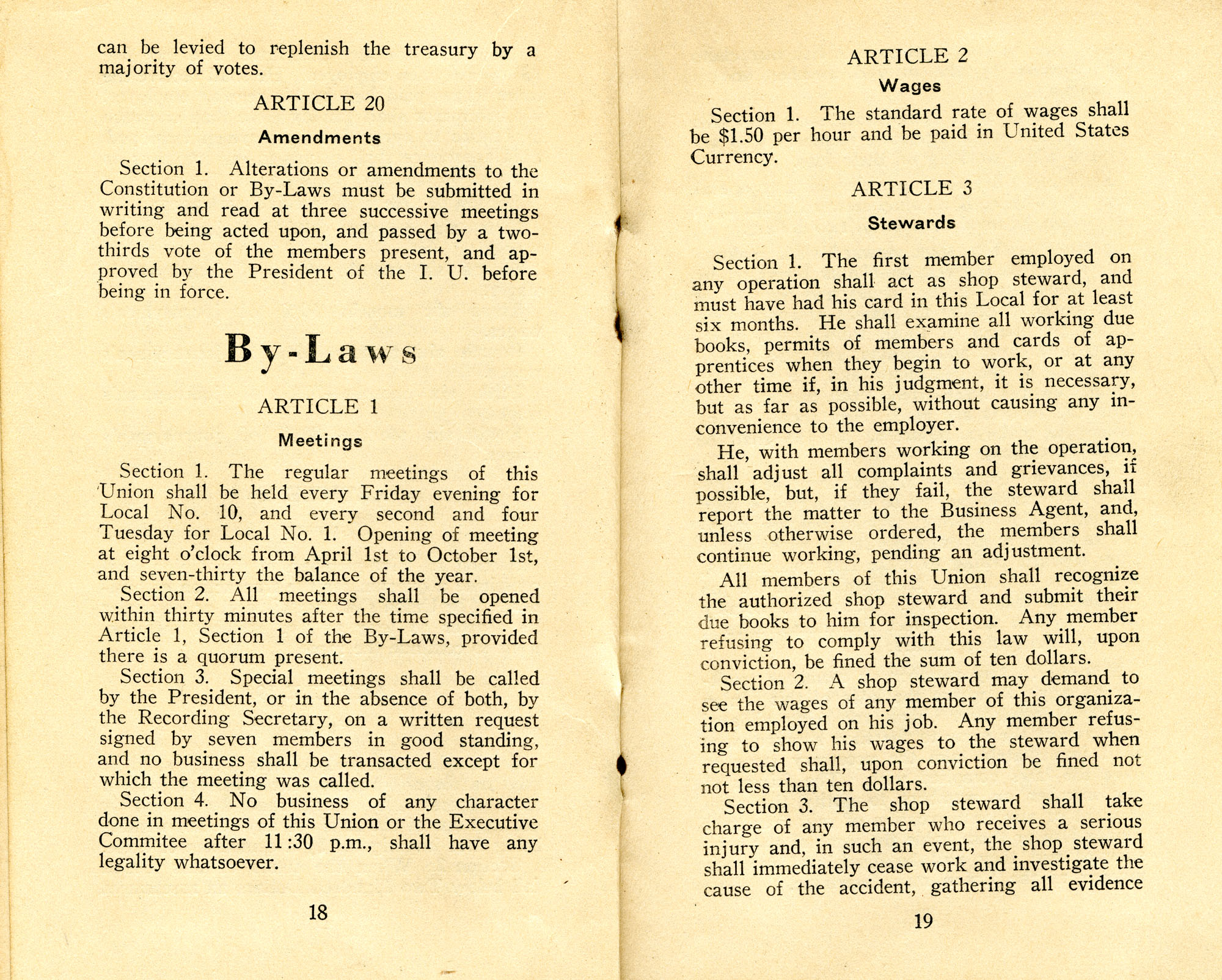 Constitution, by-laws, working code and rules of order, Page 10