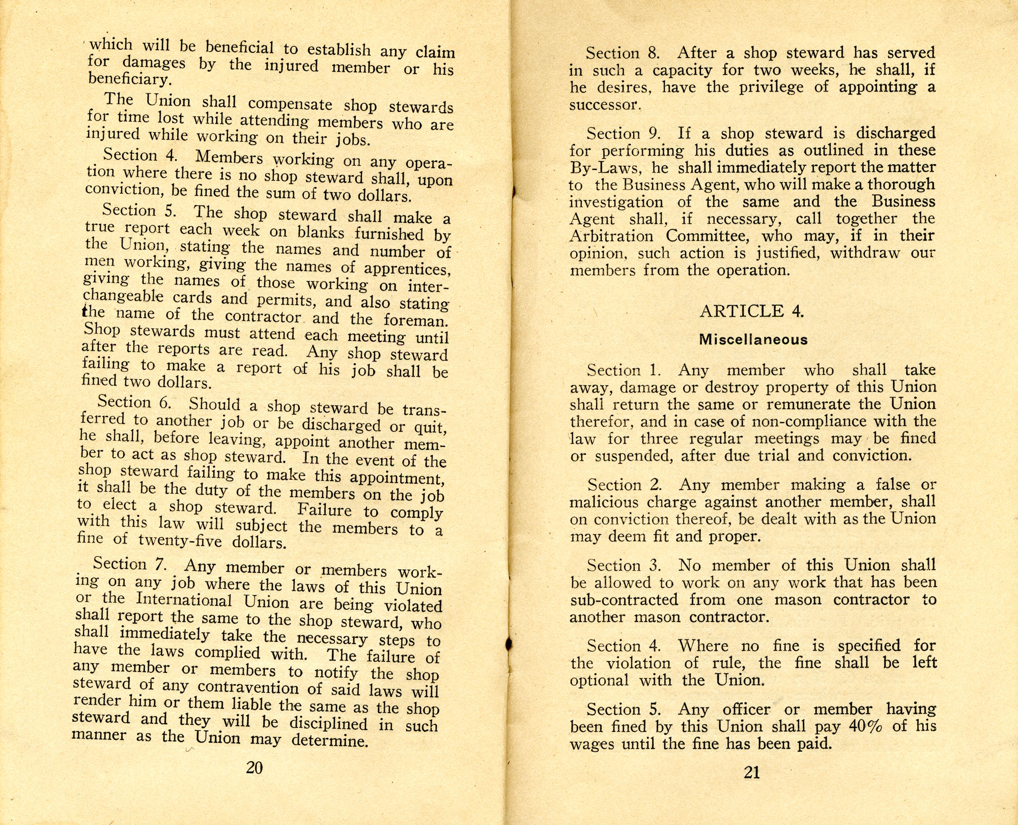 Constitution, by-laws, working code and rules of order, Page 11