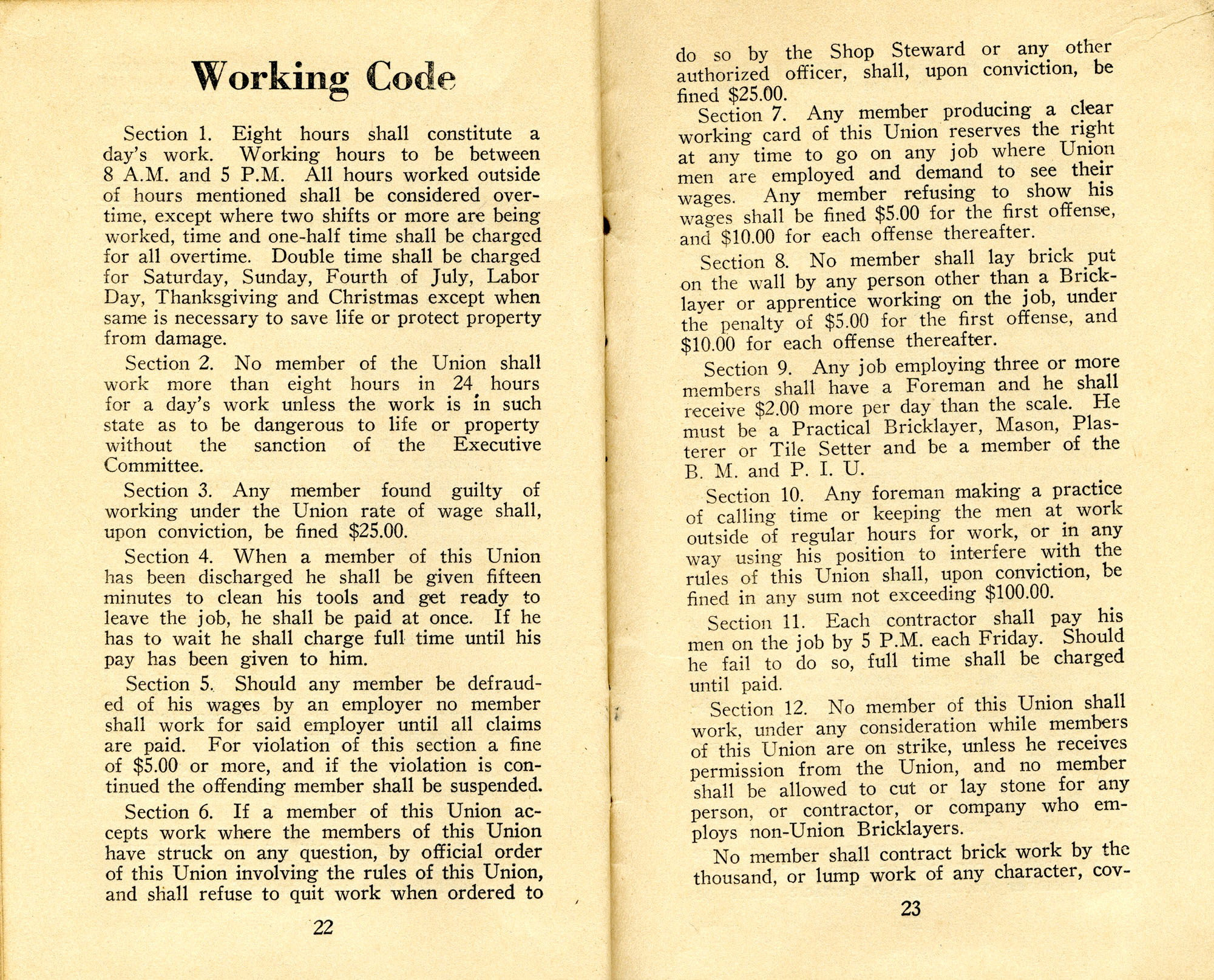 Constitution, by-laws, working code and rules of order, Page 12