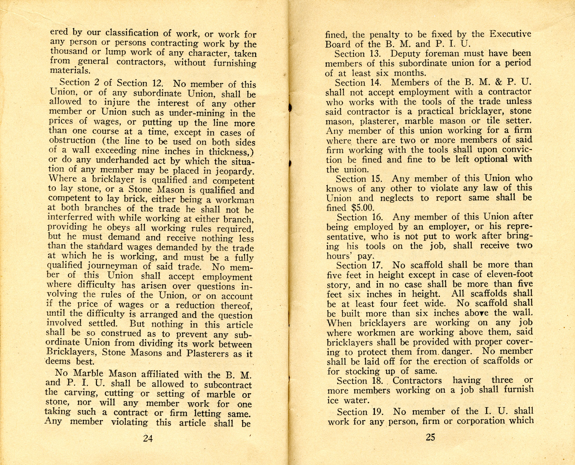 Constitution, by-laws, working code and rules of order, Page 13