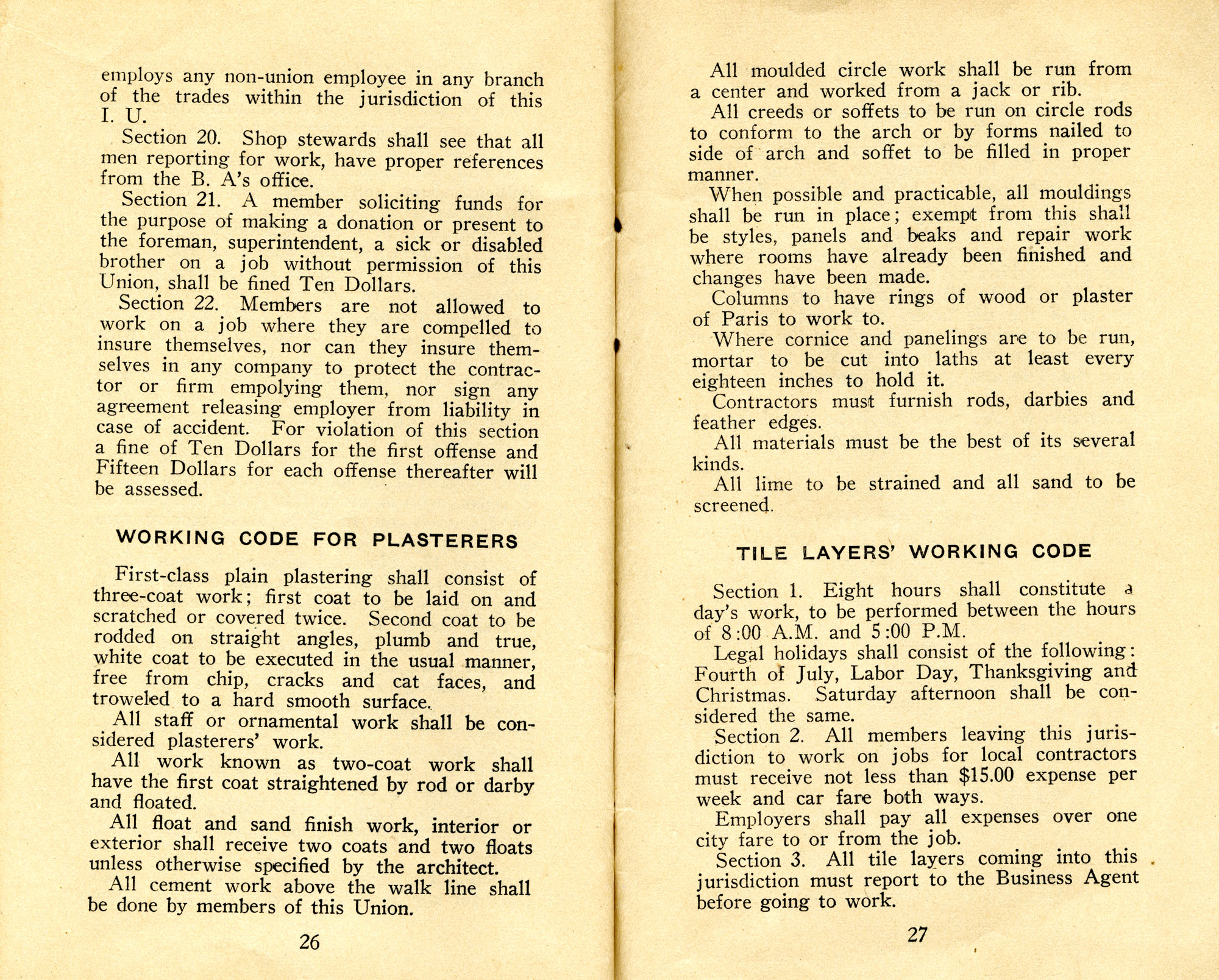 Constitution, by-laws, working code and rules of order, Page 14