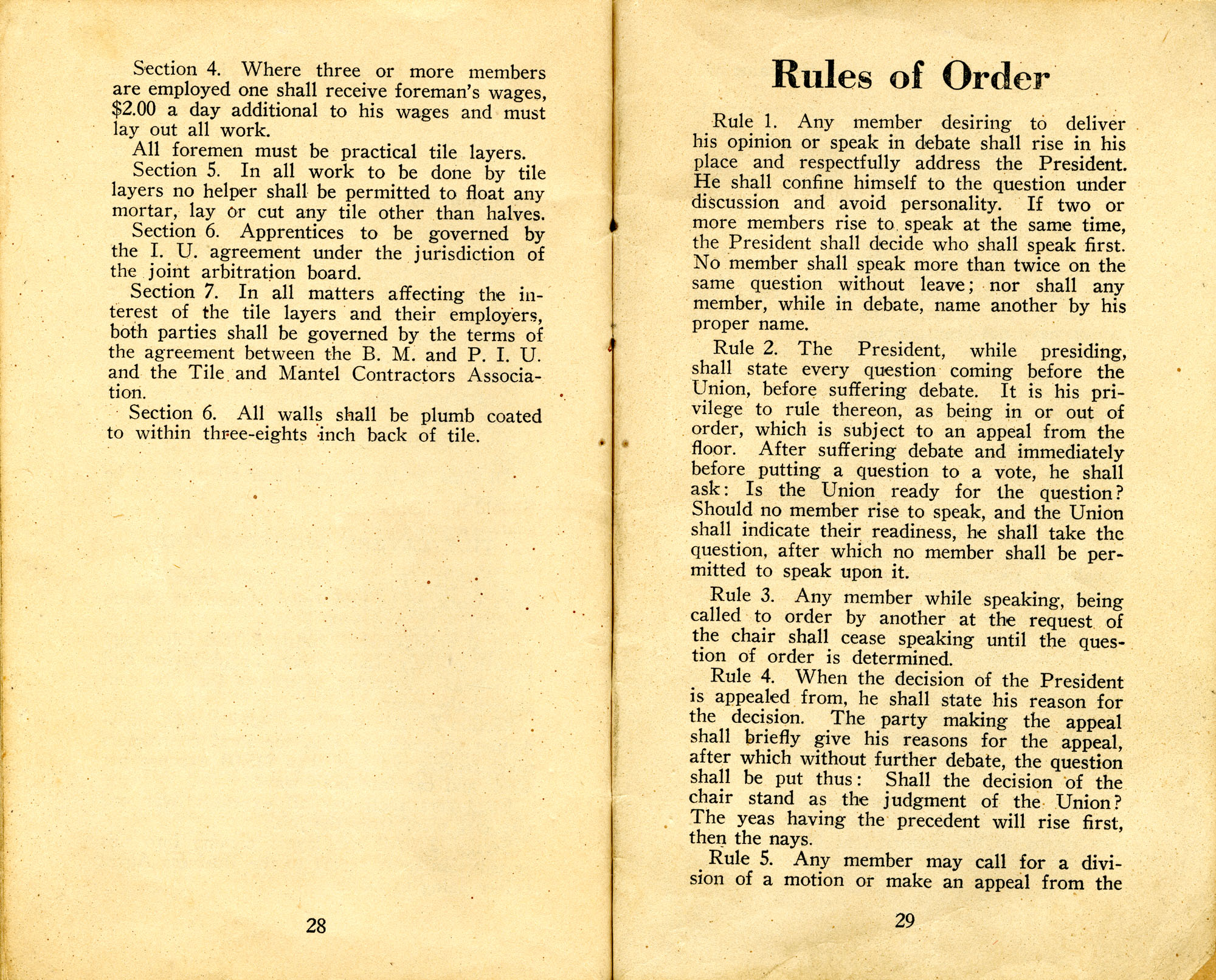 Constitution, by-laws, working code and rules of order, Page 15