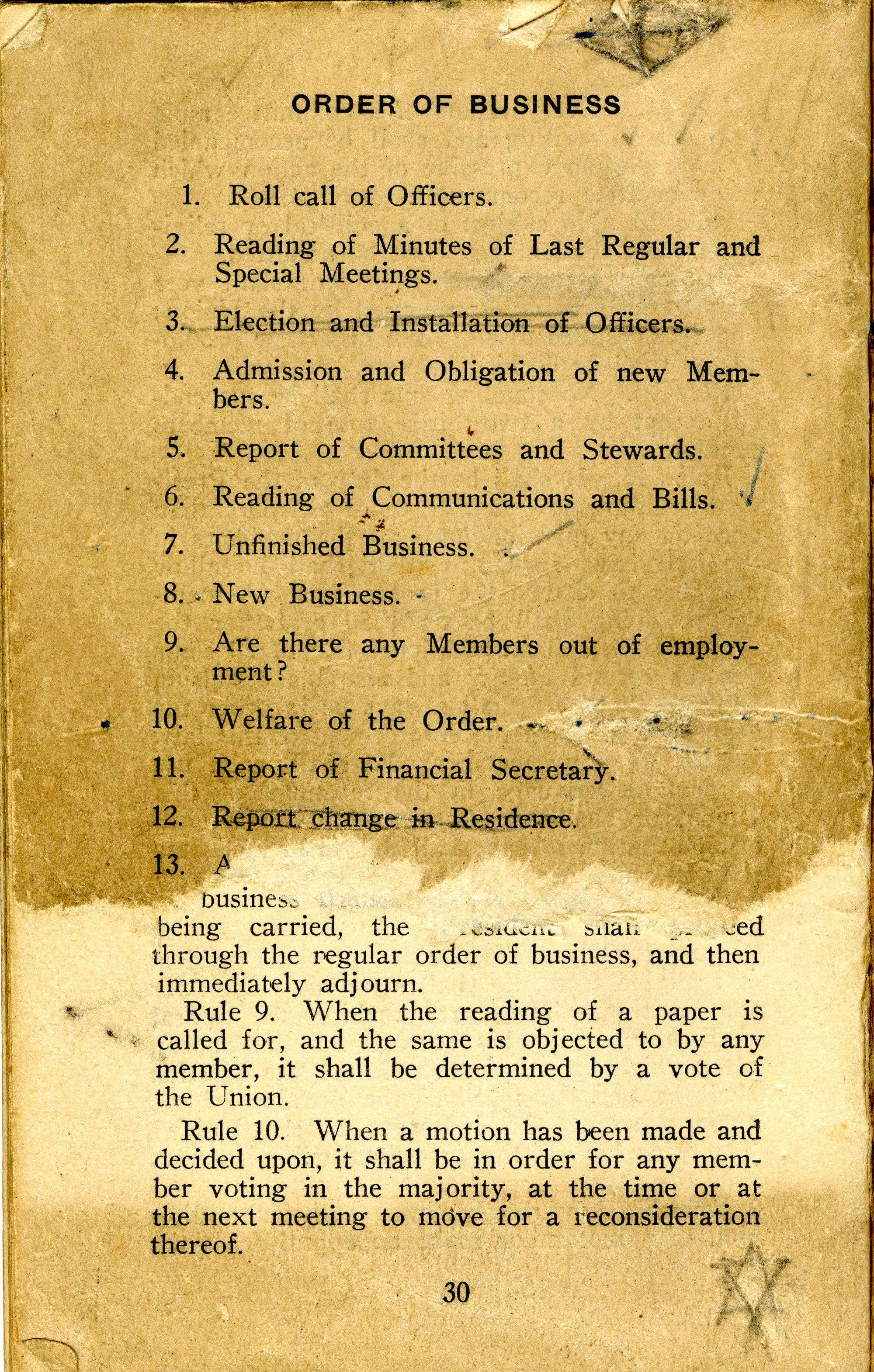 Constitution, by-laws, working code and rules of order, Page 17