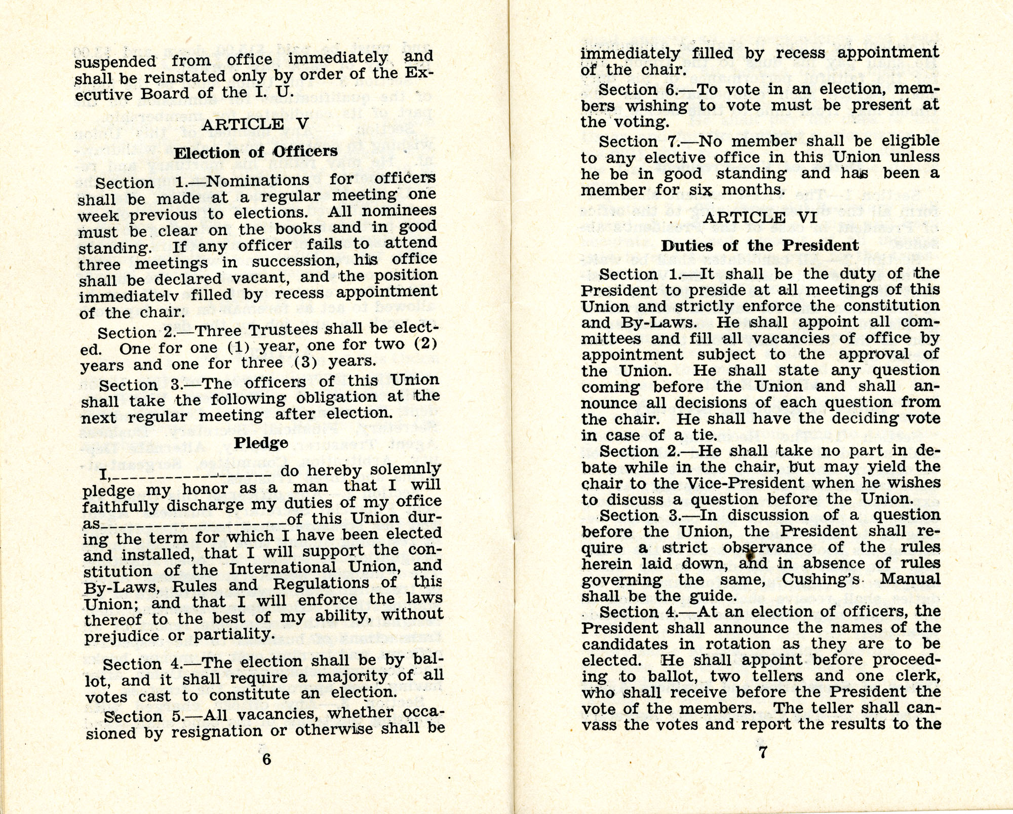 Constitution and by-laws of unions no.1 and 10, Page 4