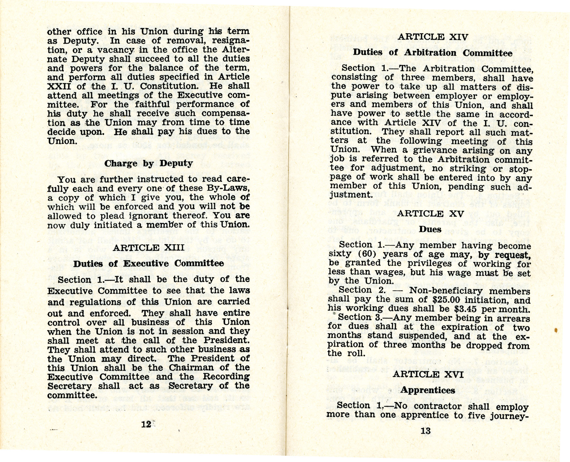 Constitution and by-laws of unions no.1 and 10, Page 7