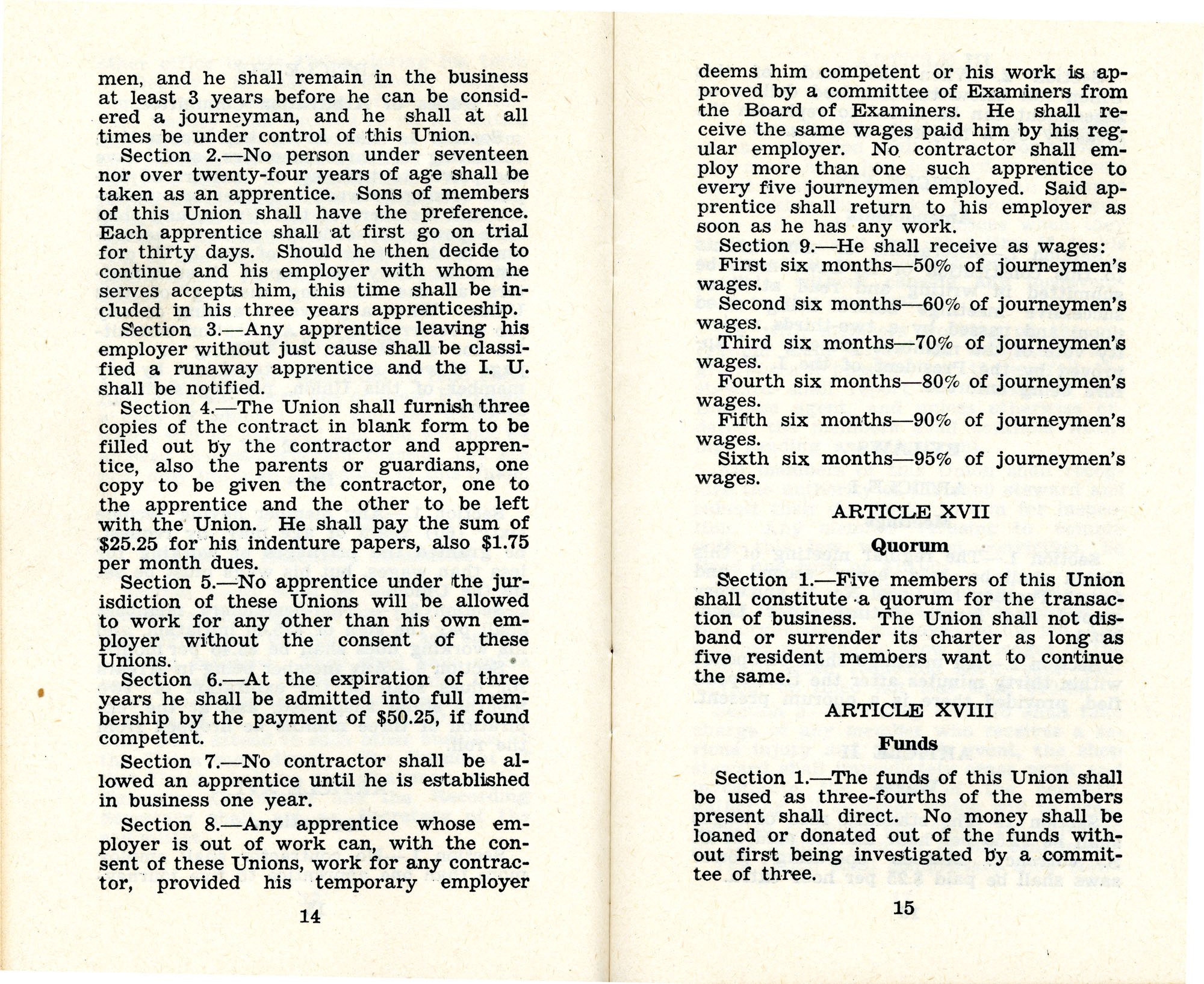 Constitution and by-laws of unions no.1 and 10, Page 8