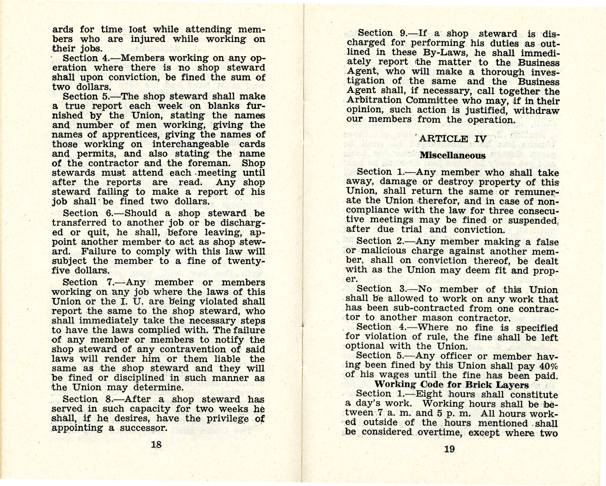 Constitution and by-laws of unions no.1 and 10, Page 10