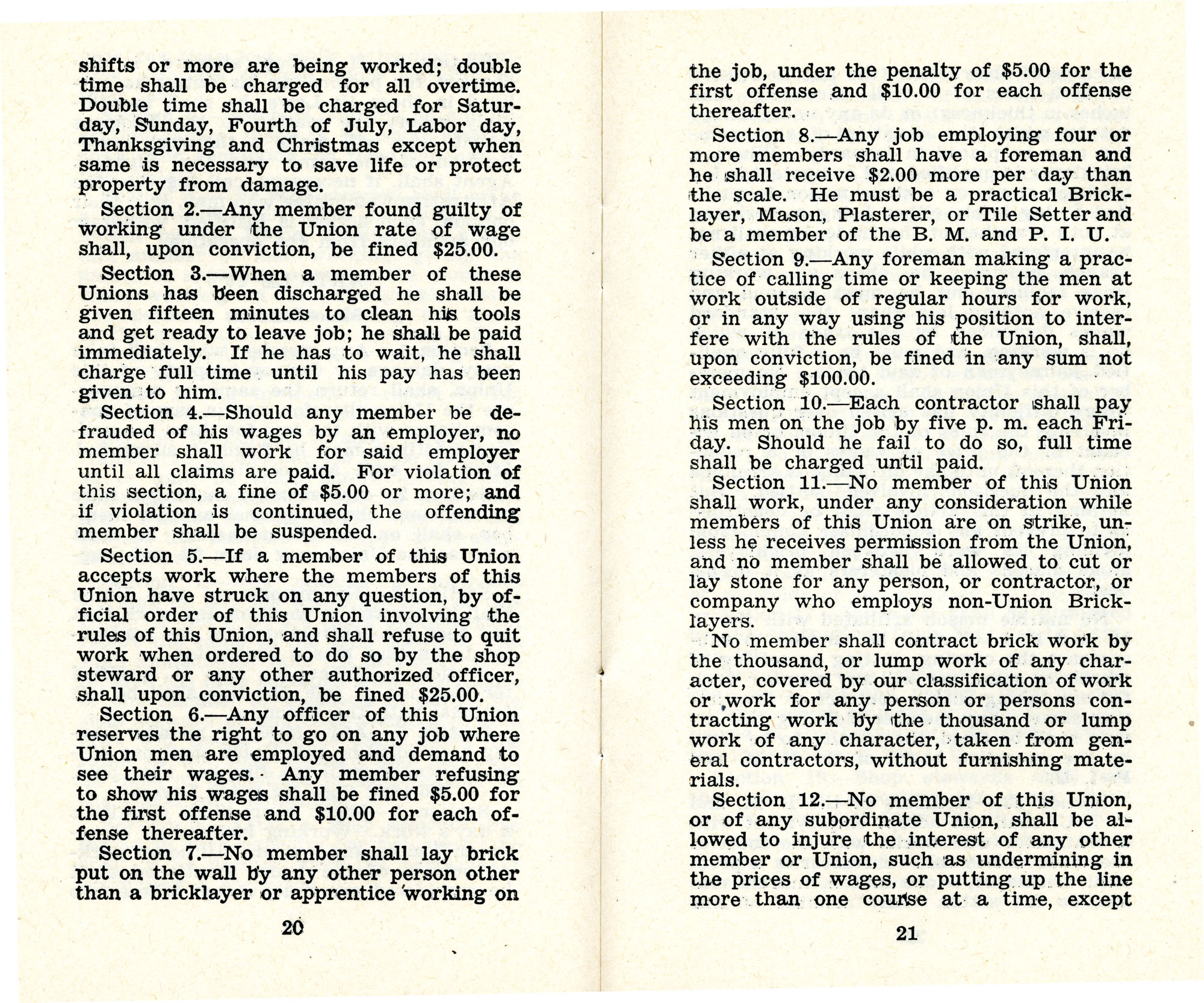 Constitution and by-laws of unions no.1 and 10, Page 11