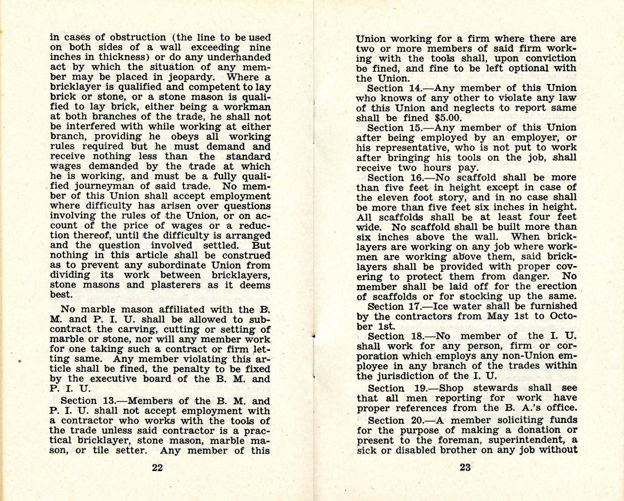 Constitution and by-laws of unions no.1 and 10, Page 12