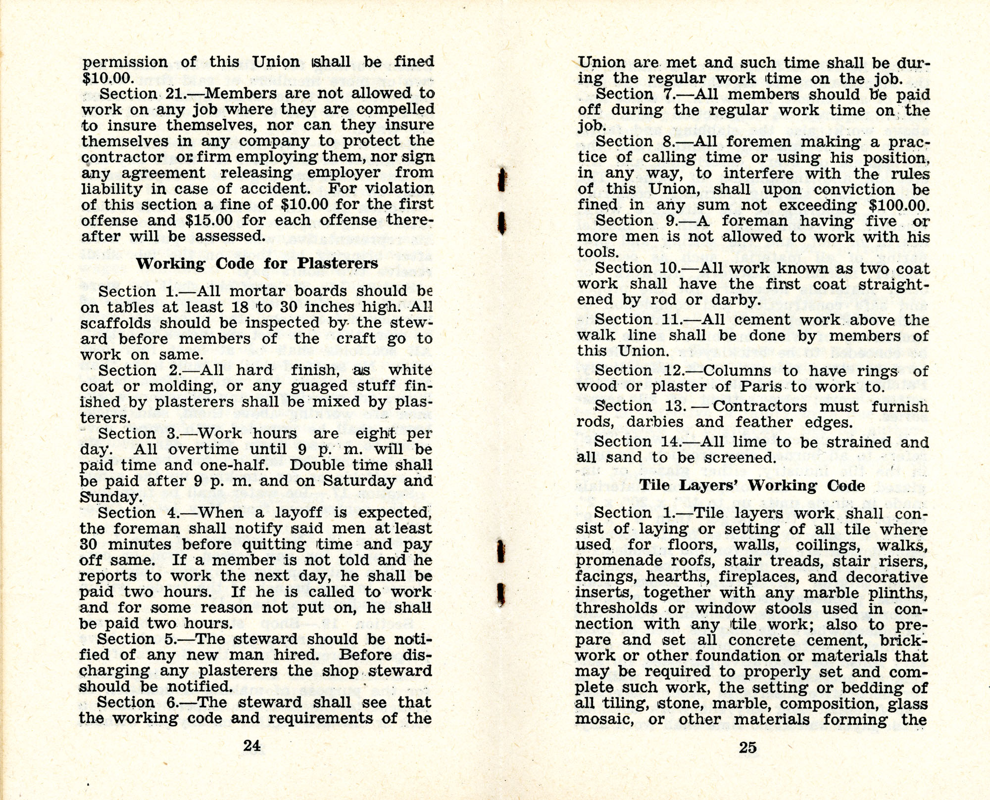 Constitution and by-laws of unions no.1 and 10, Page 13