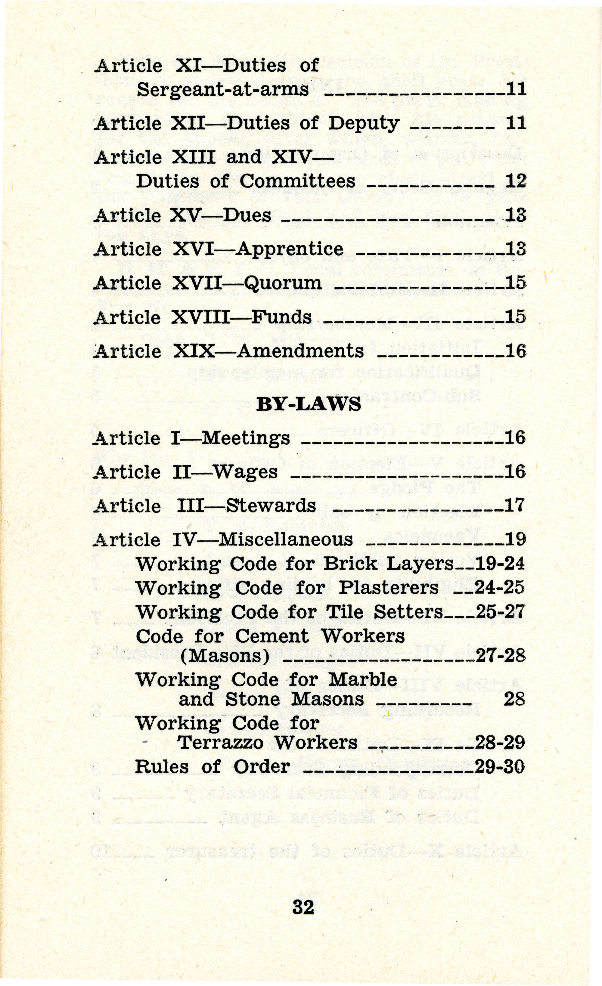 Constitution and by-laws of unions no.1 and 10, Page 17