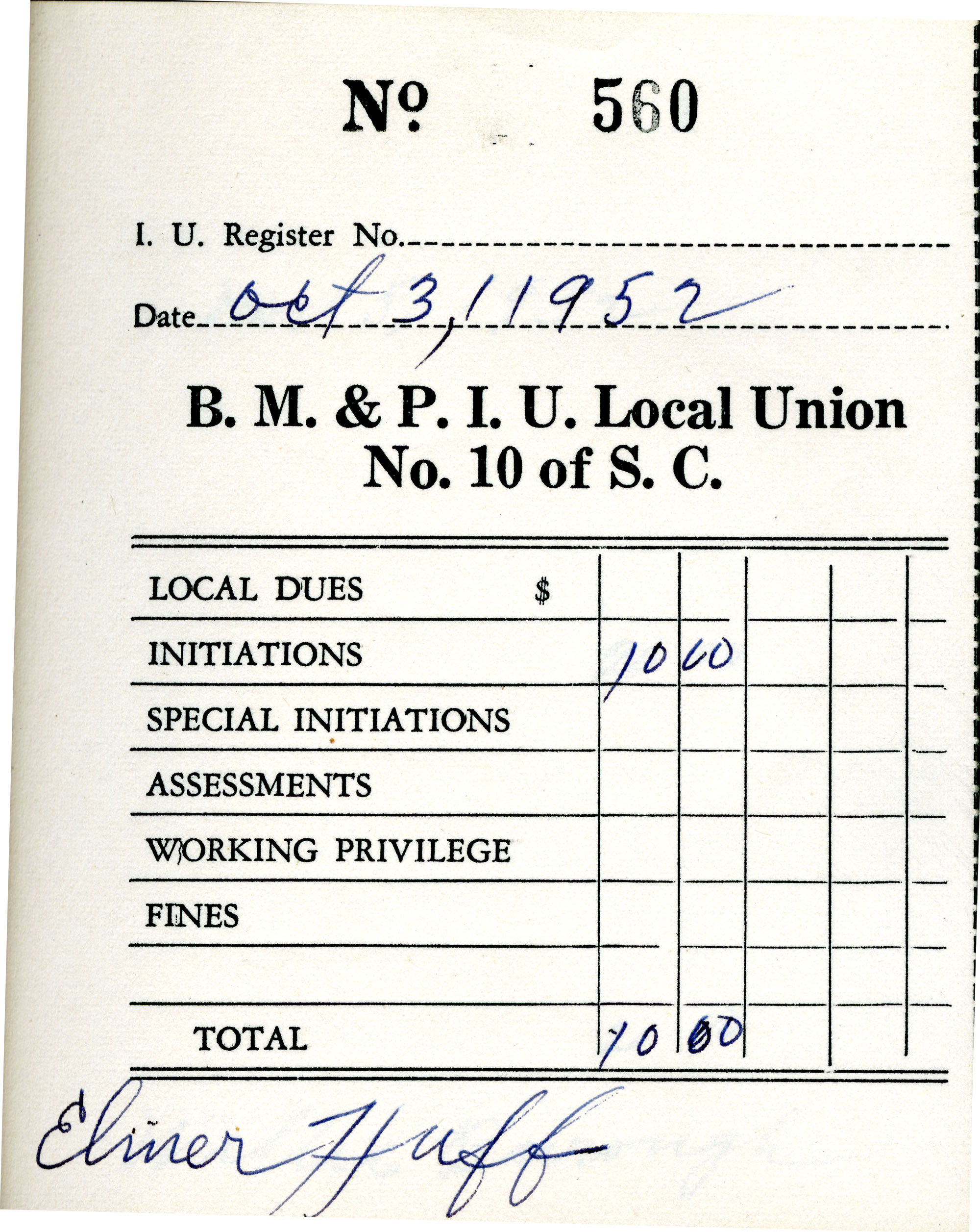 Receipt Book 1, Page 10