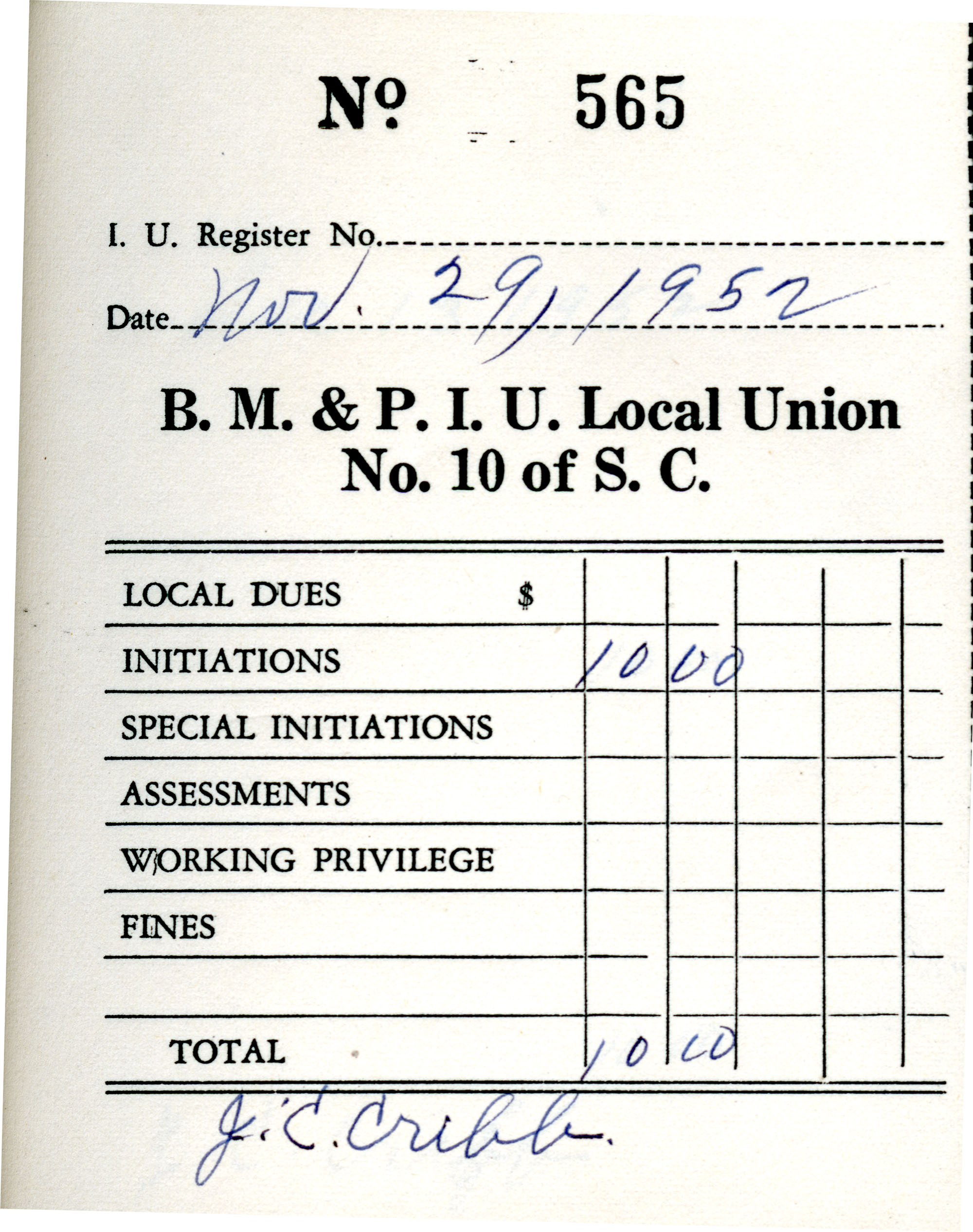 Receipt Book 1, Page 15