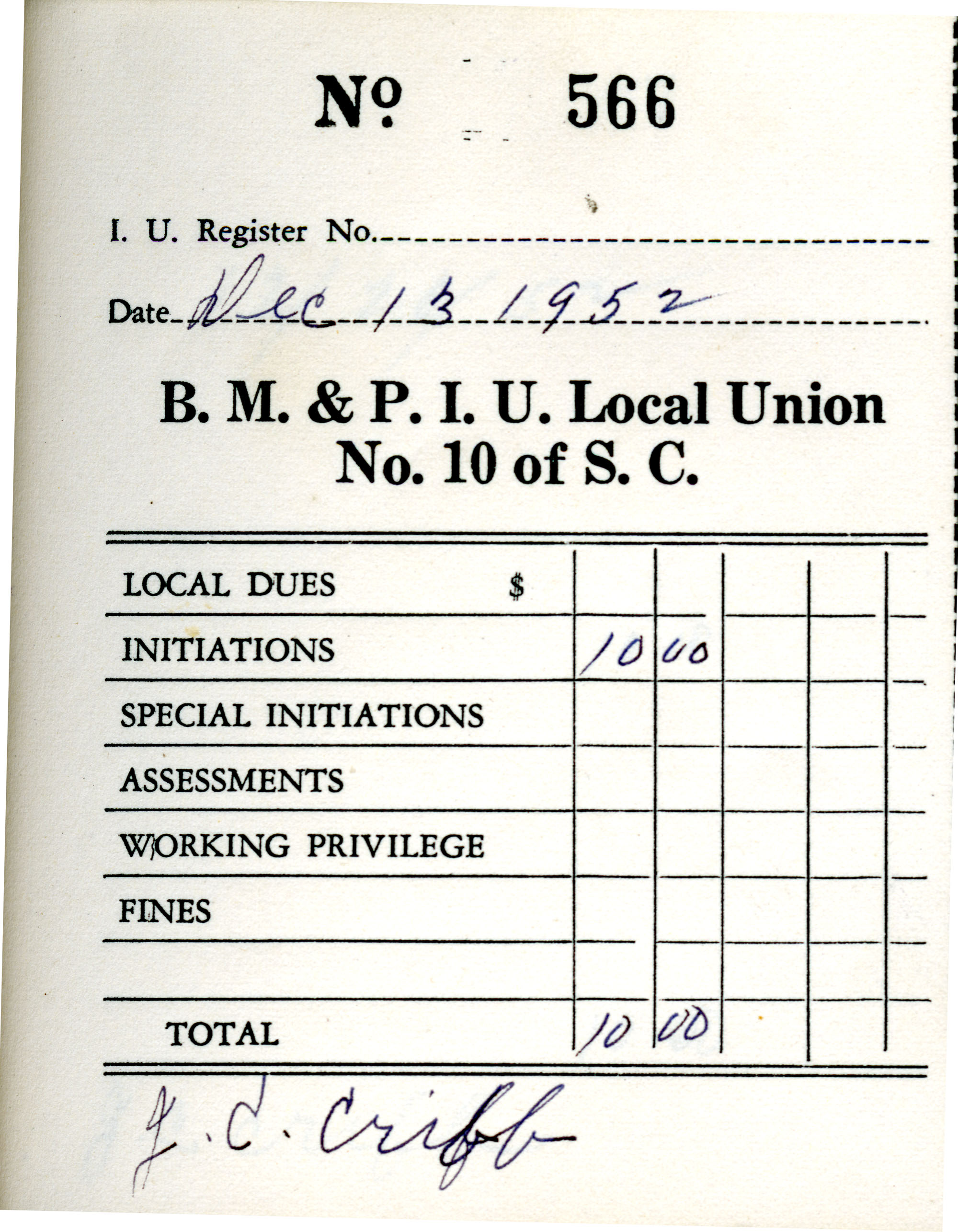 Receipt Book 1, Page 16