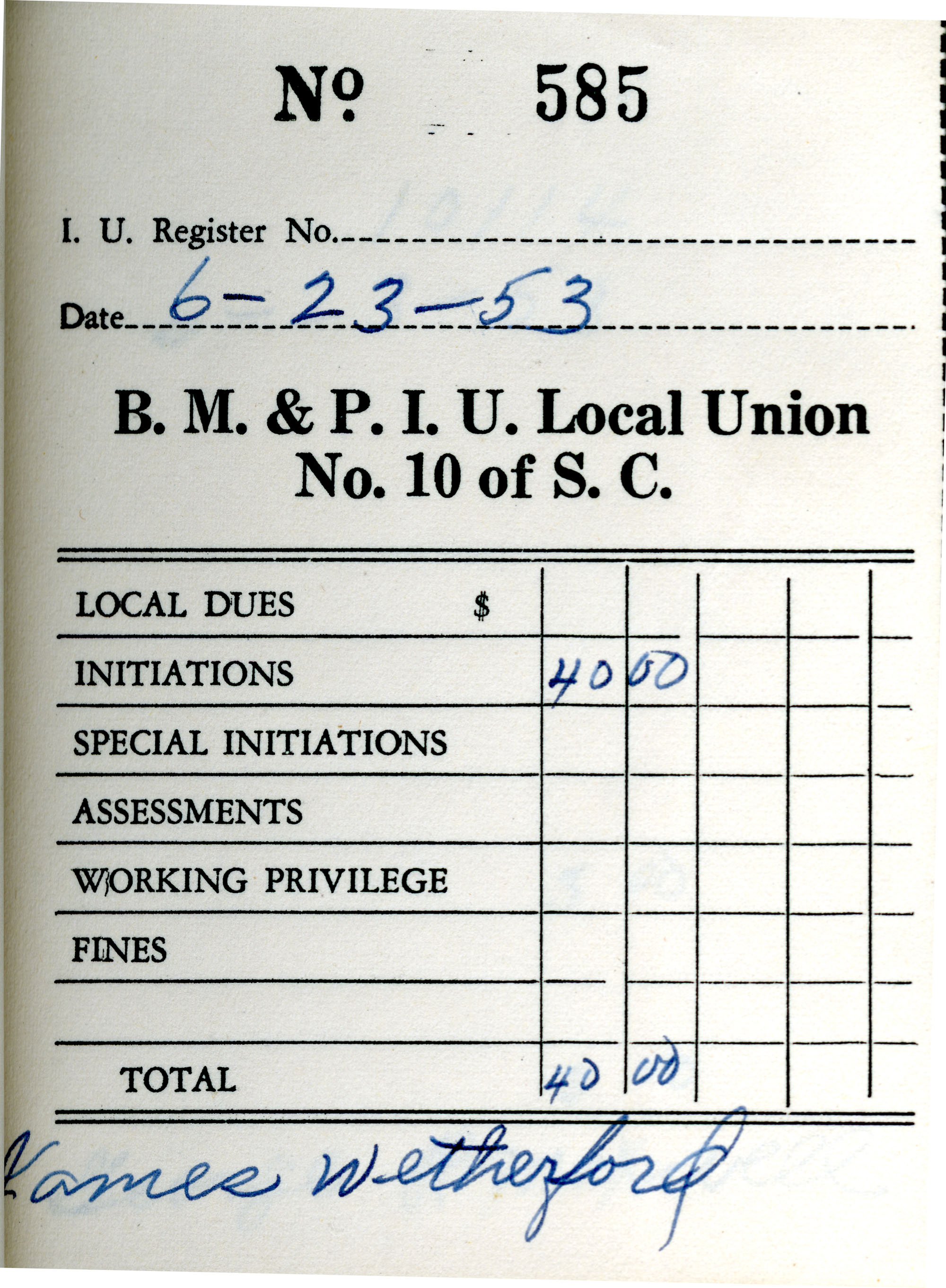 Receipt Book 1, Page 35