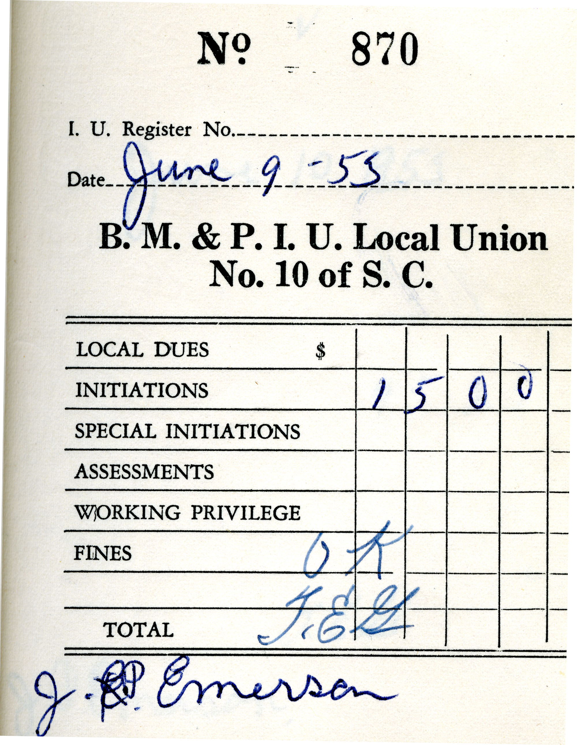 Receipt Book 3, Page 15