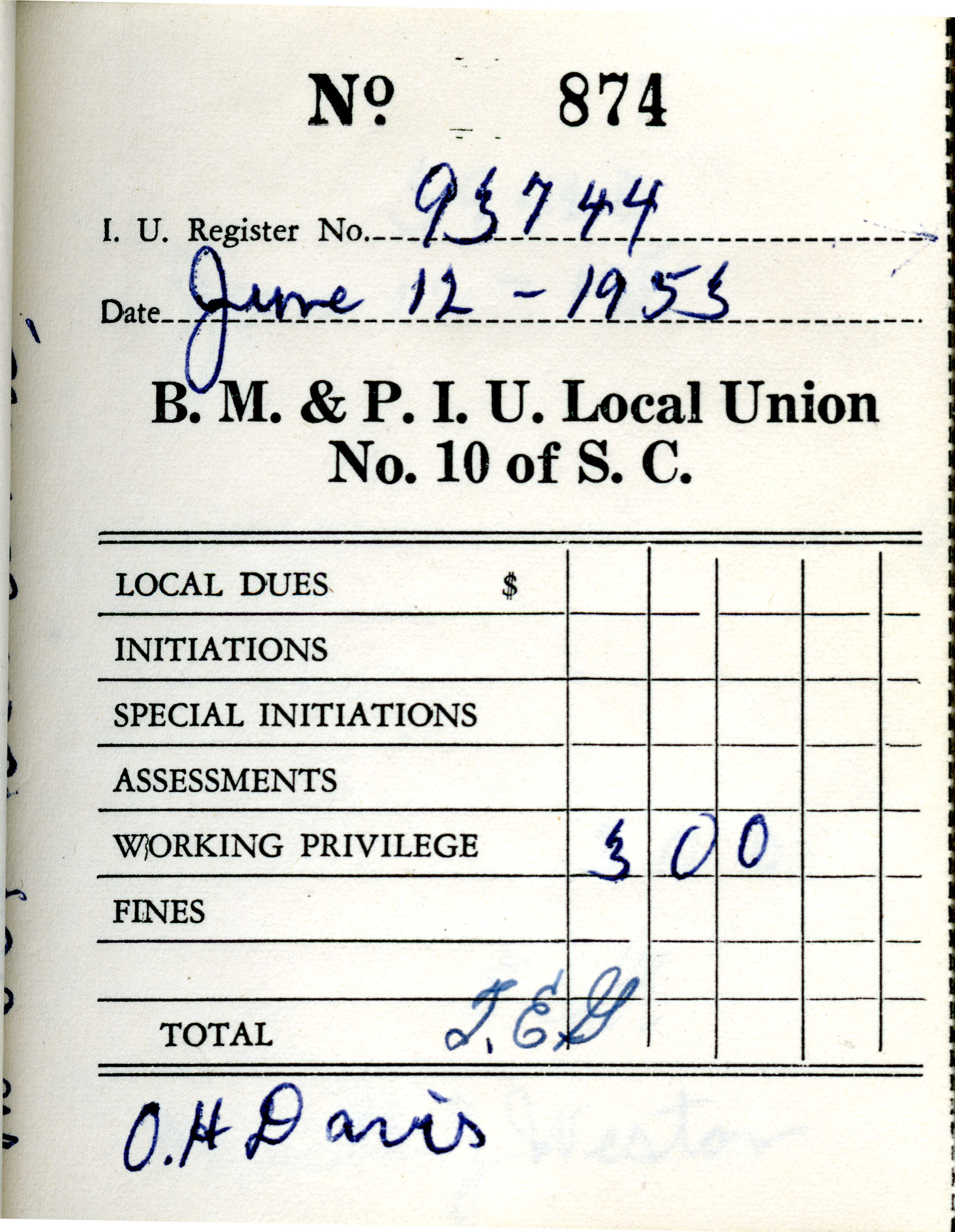 Receipt Book 3, Page 19