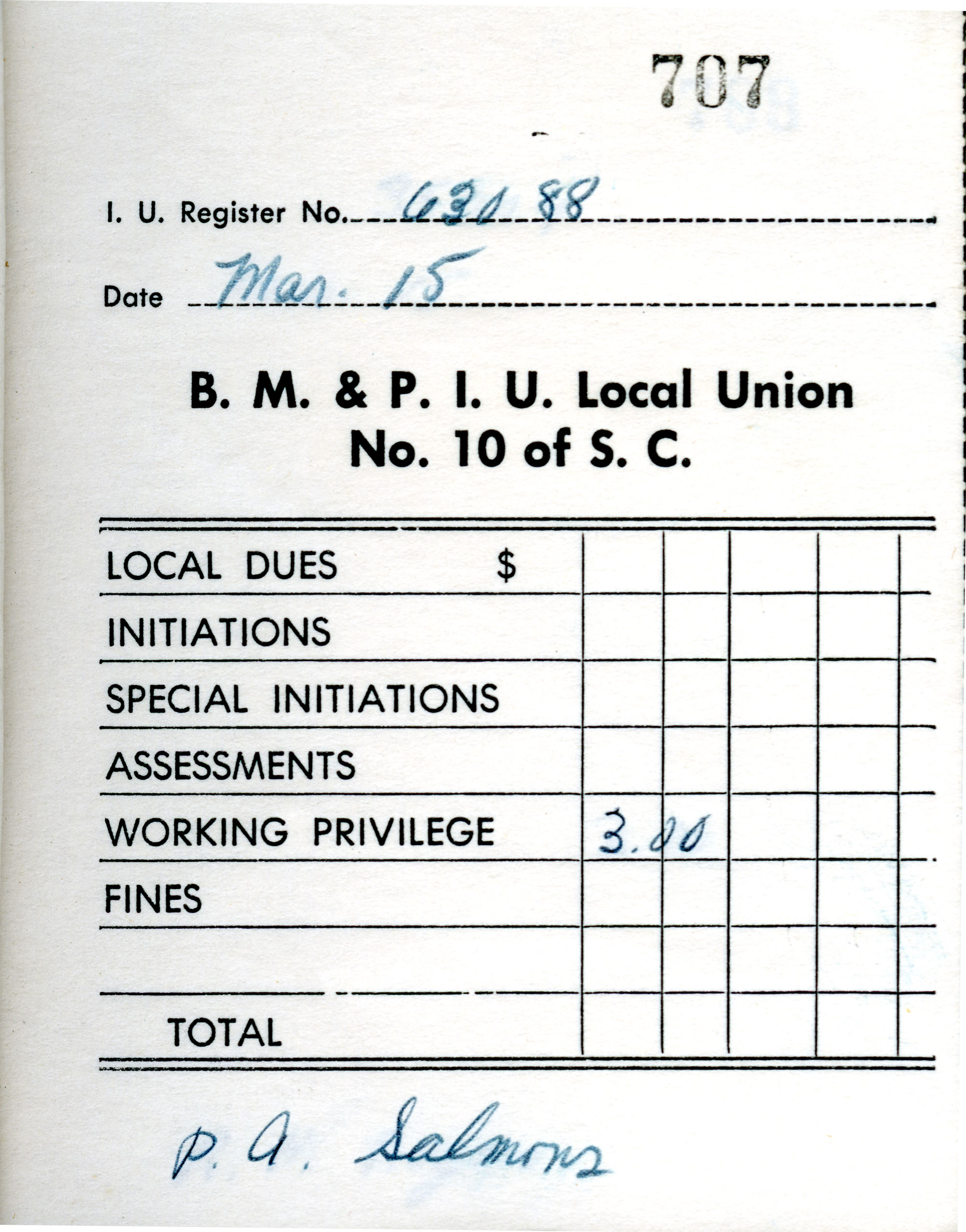 Receipt Book 5, Page 7