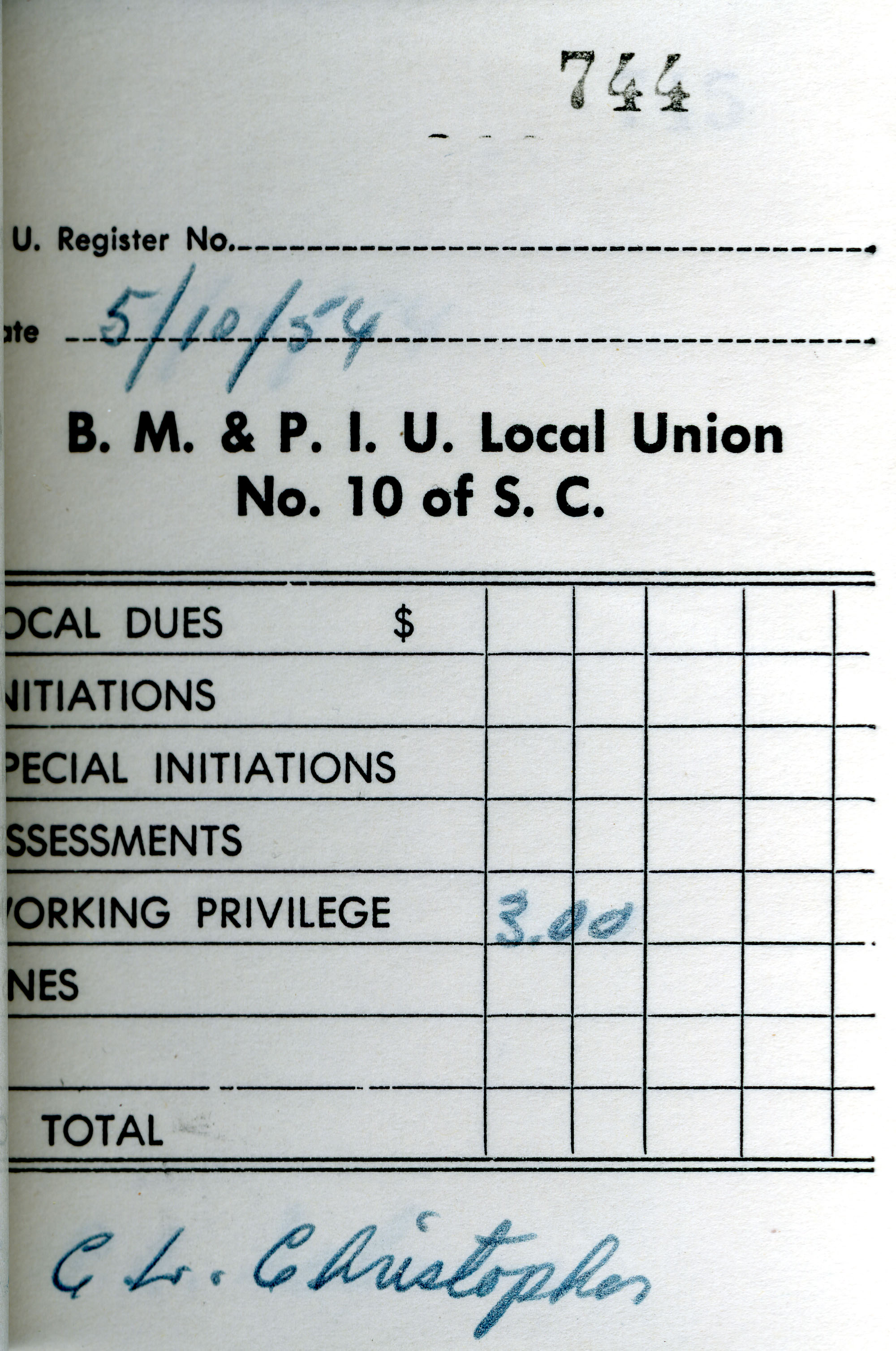 Receipt Book 5, Page 44