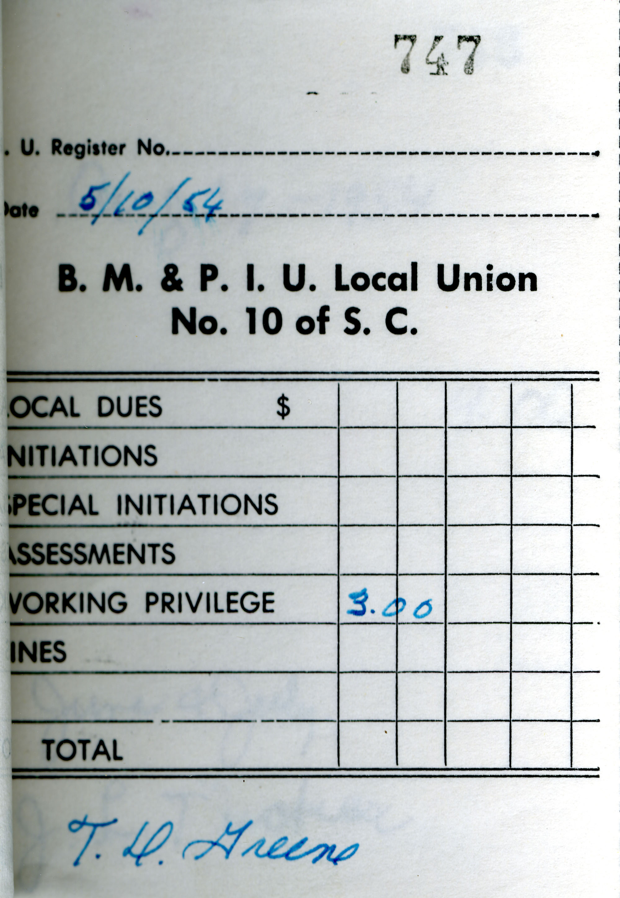 Receipt Book 5, Page 47