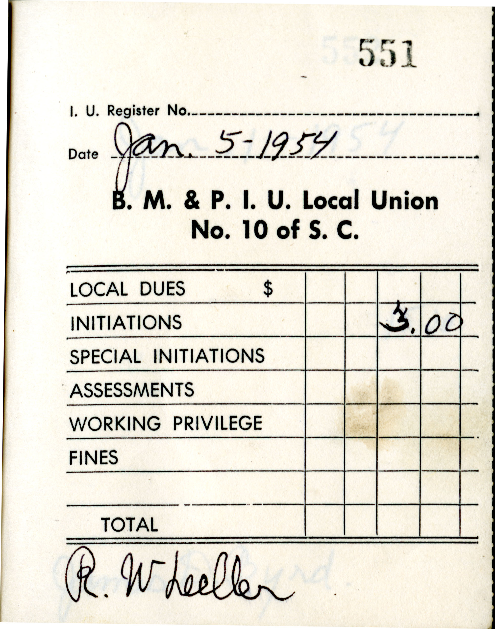 Receipt Book 6, Page 2