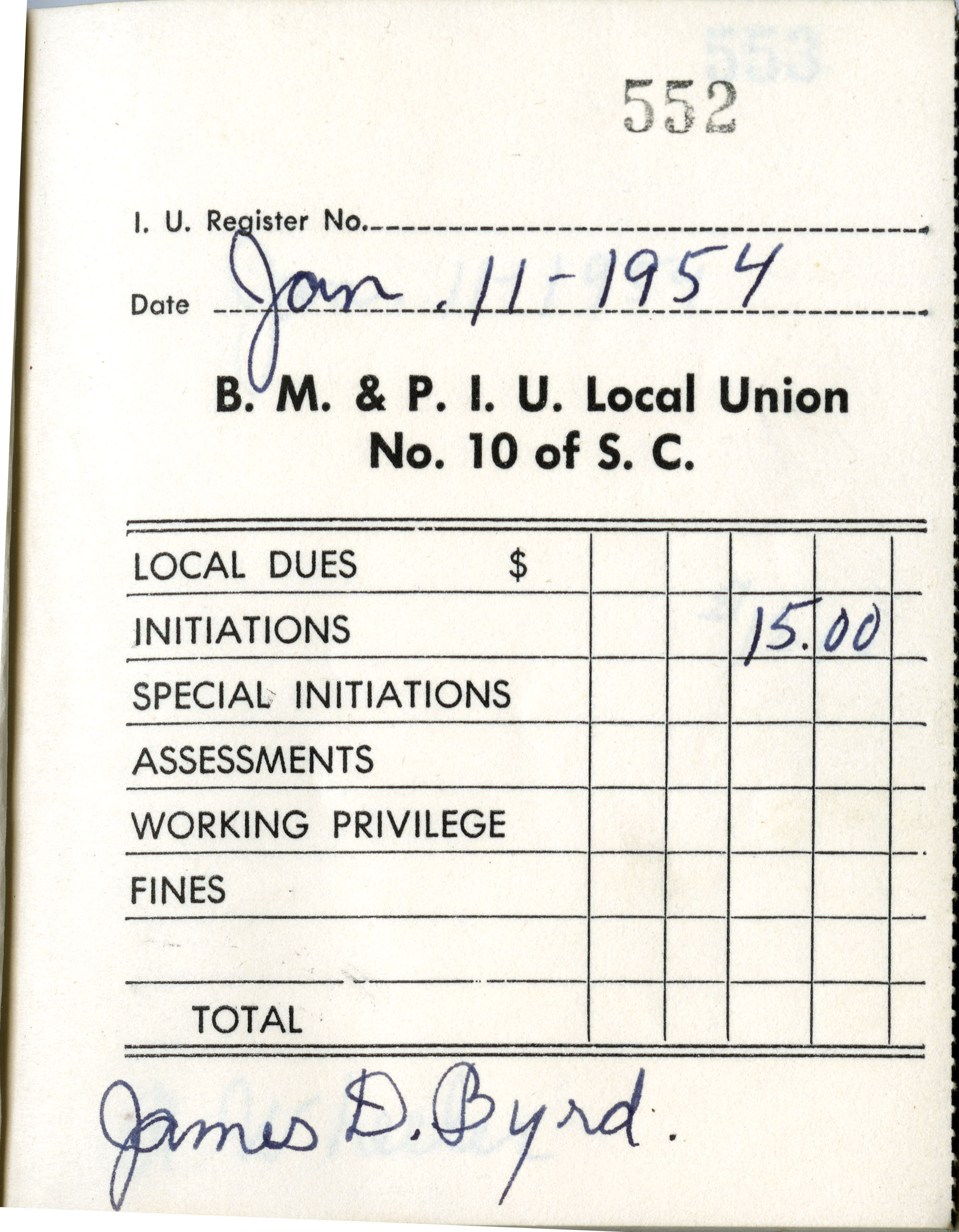 Receipt Book 6, Page 3