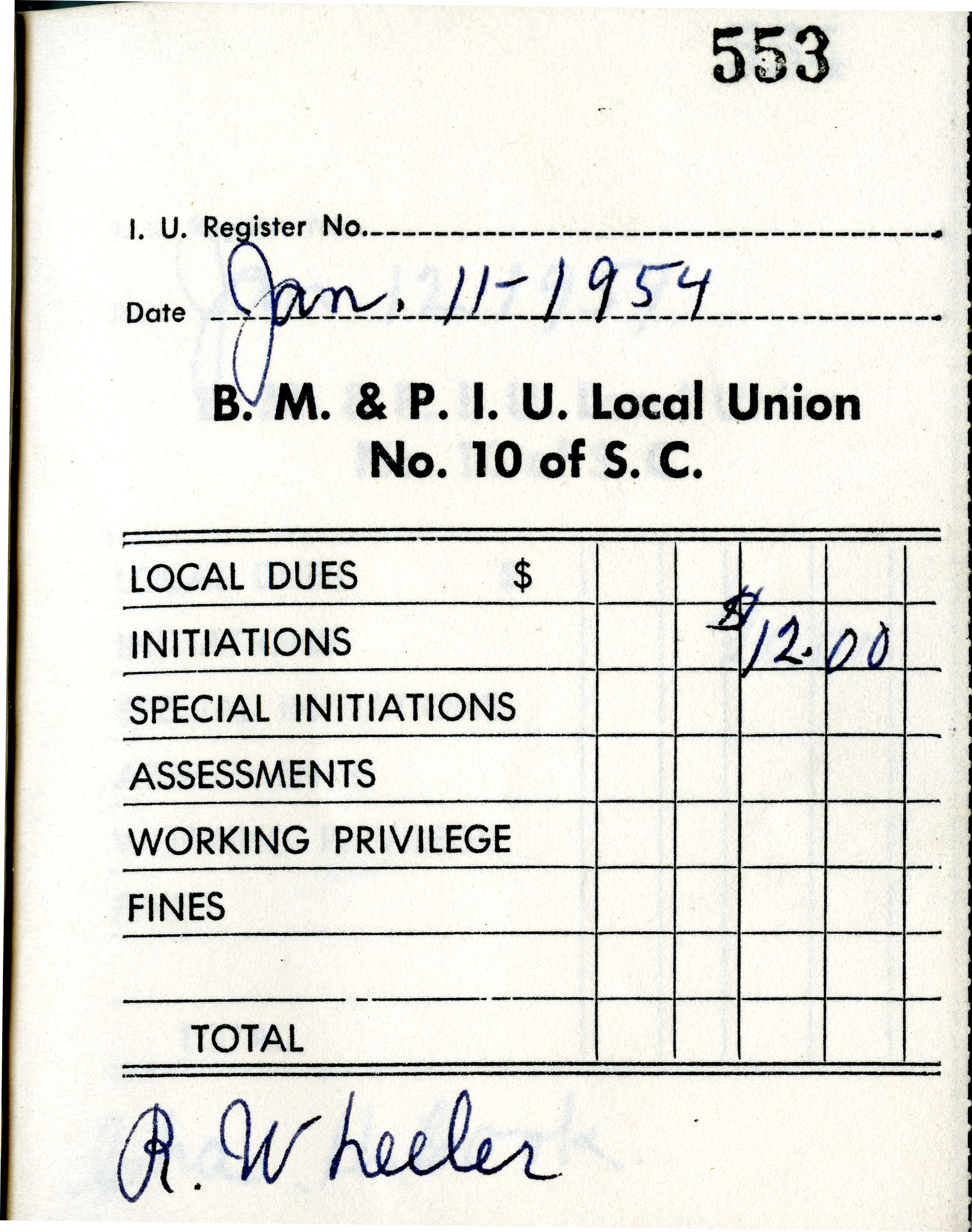 Receipt Book 6, Page 4