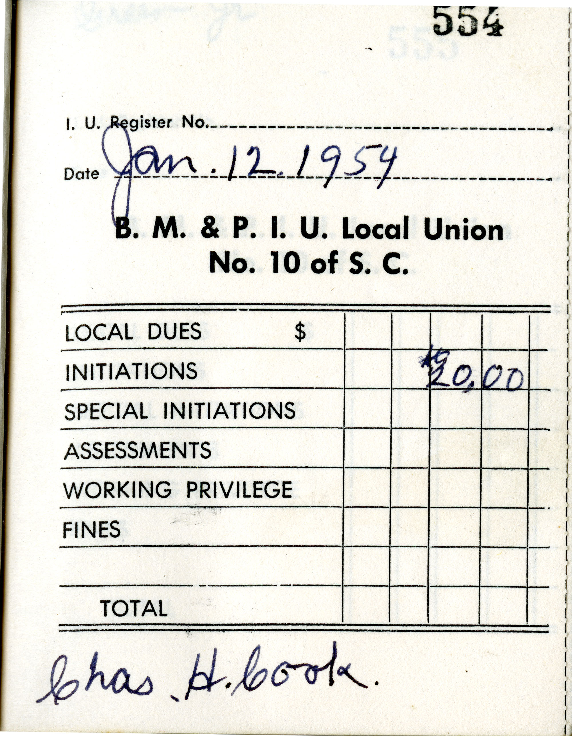 Receipt Book 6, Page 5