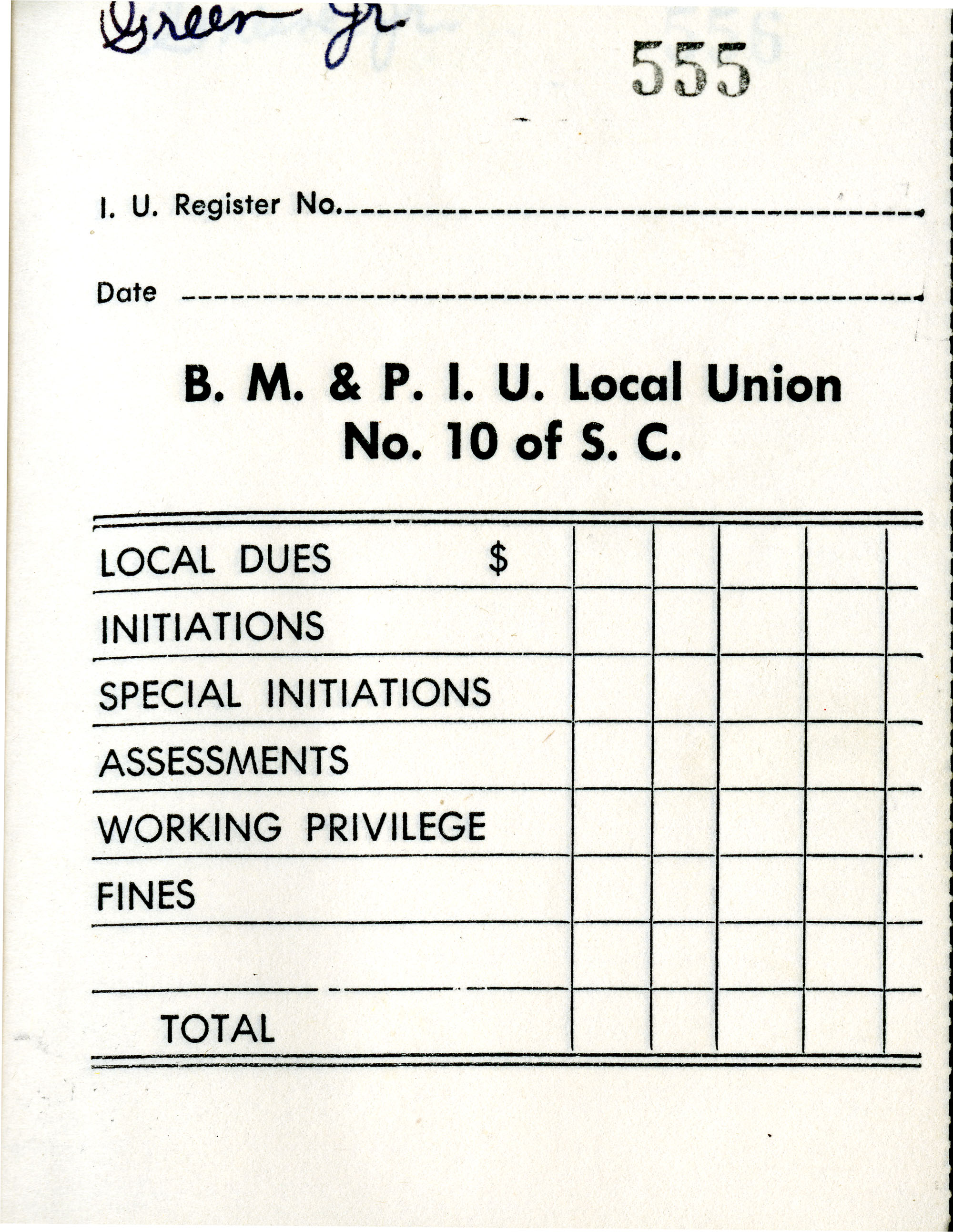 Receipt Book 6, Page 6
