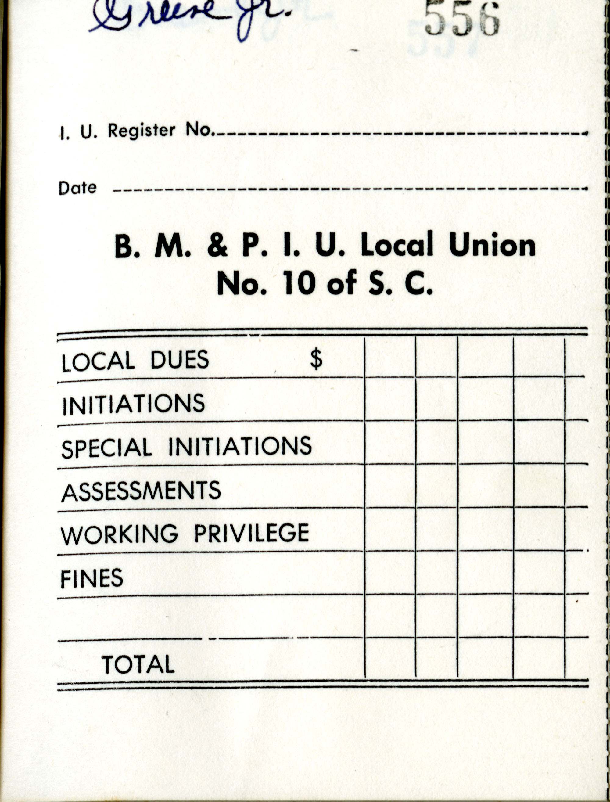 Receipt Book 6, Page 7