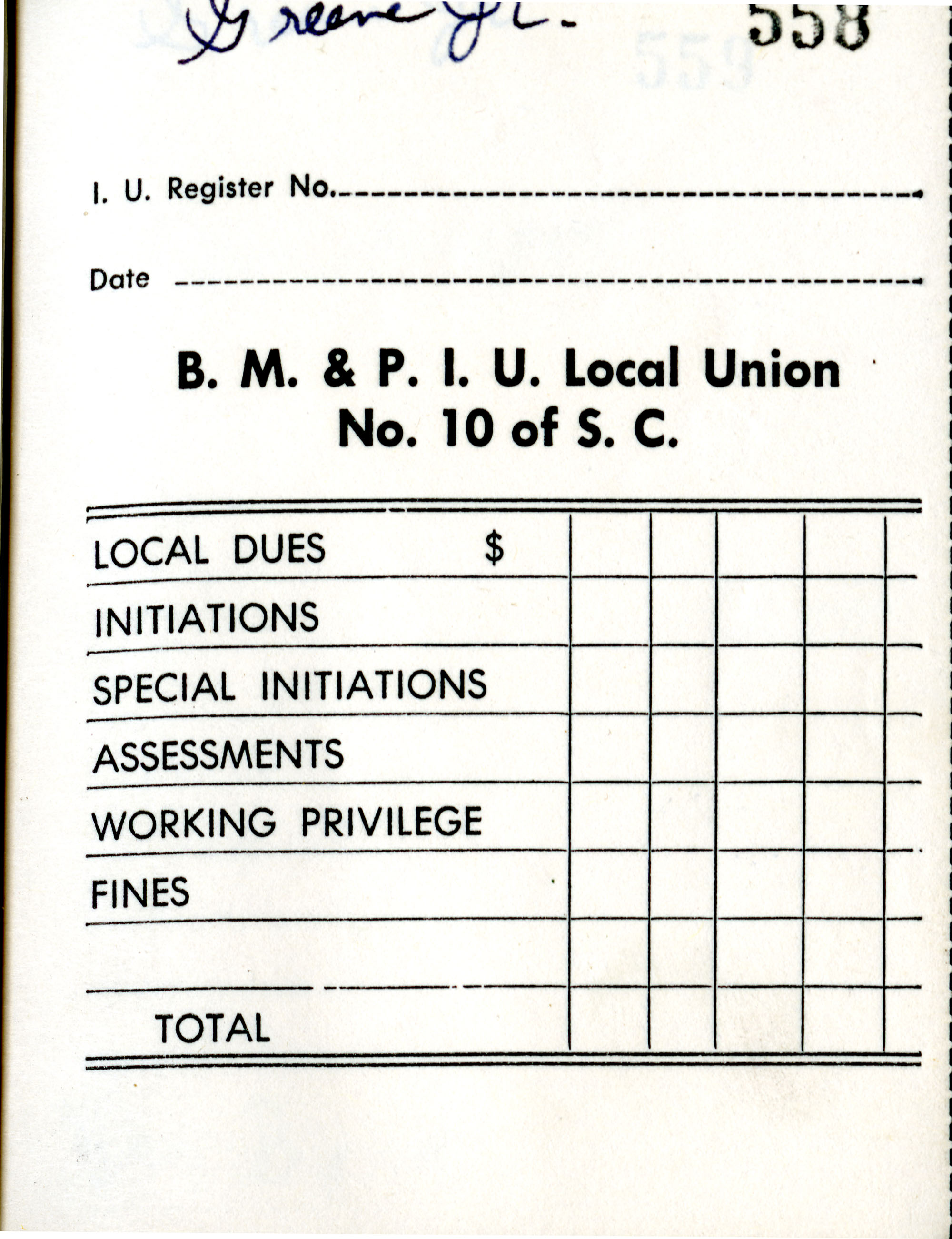 Receipt Book 6, Page 9
