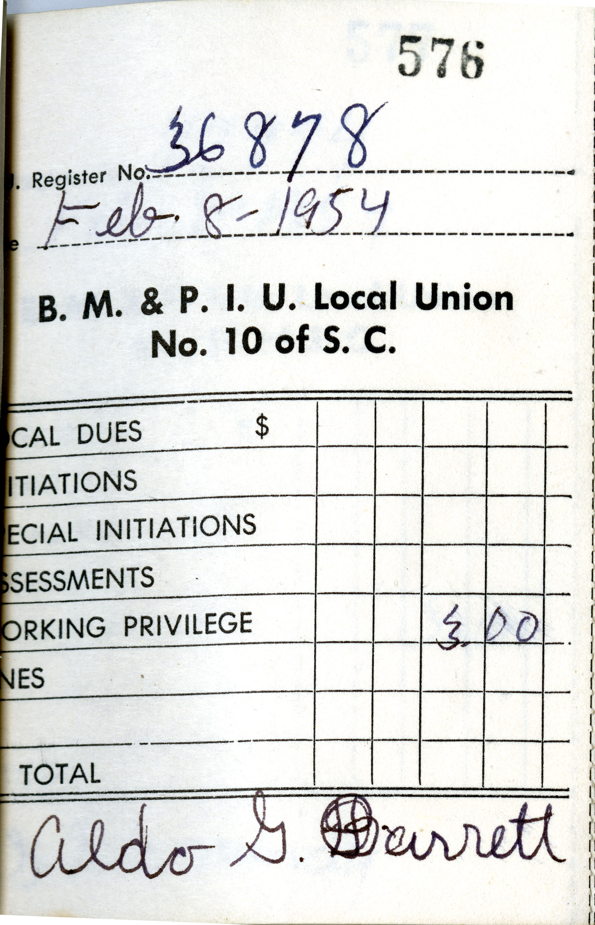Receipt Book 6, Page 27
