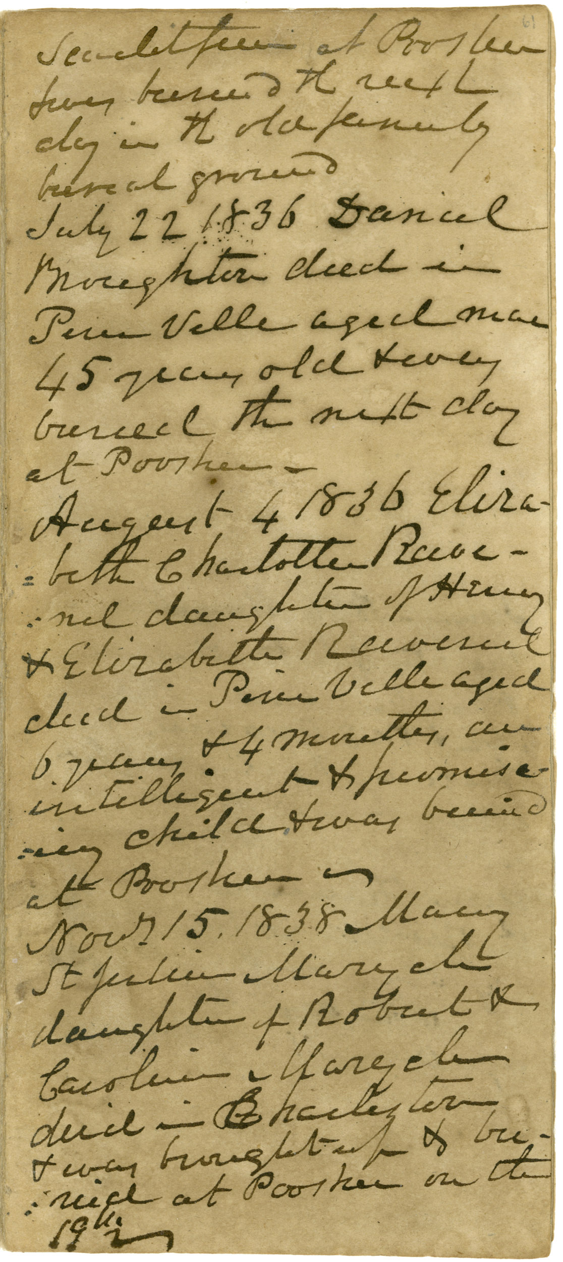 Ravenel Diary 1731-1860, page 54
