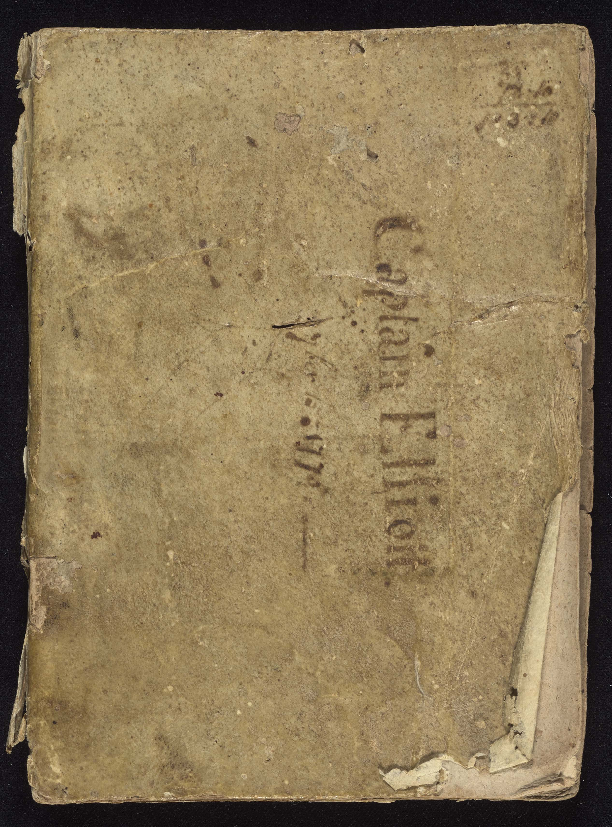 4th South Carolina Regiment Order Book, Cover