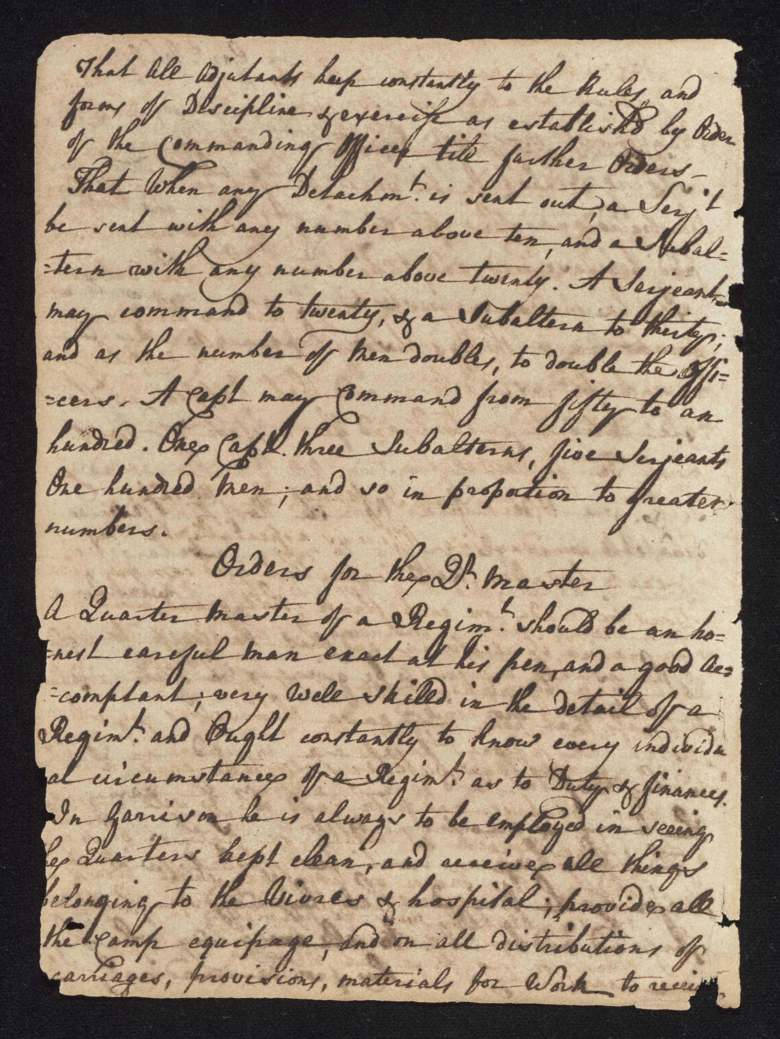 South Carolina Regiment Order Book, Page 2