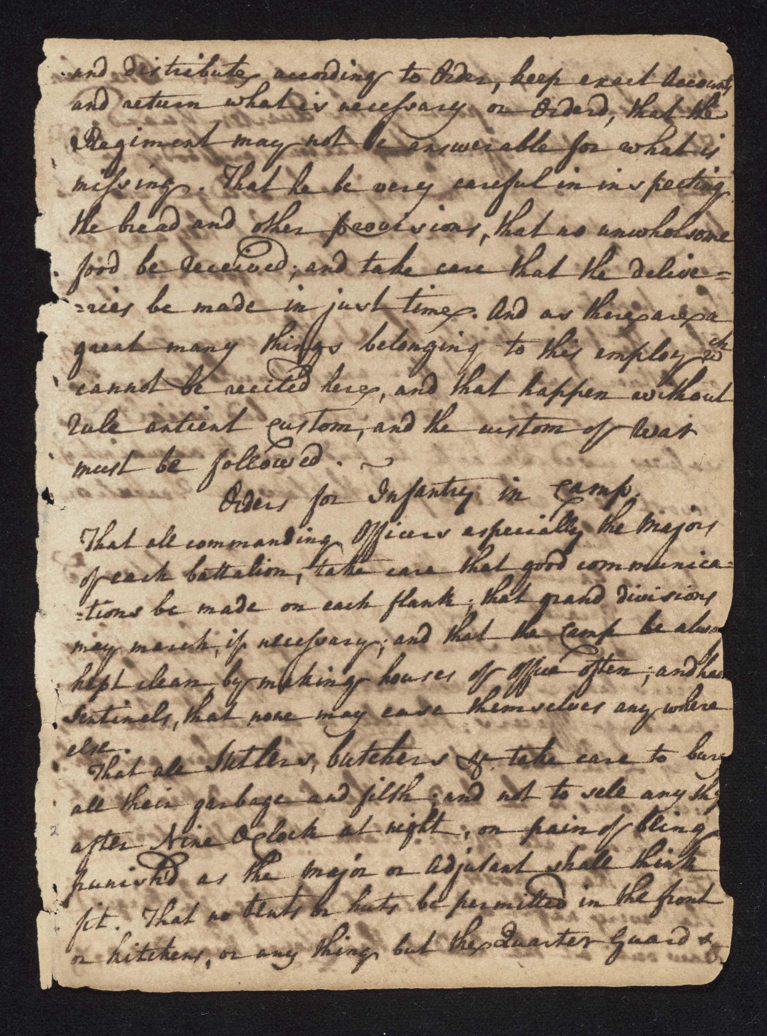 South Carolina Regiment Order Book, Page 3
