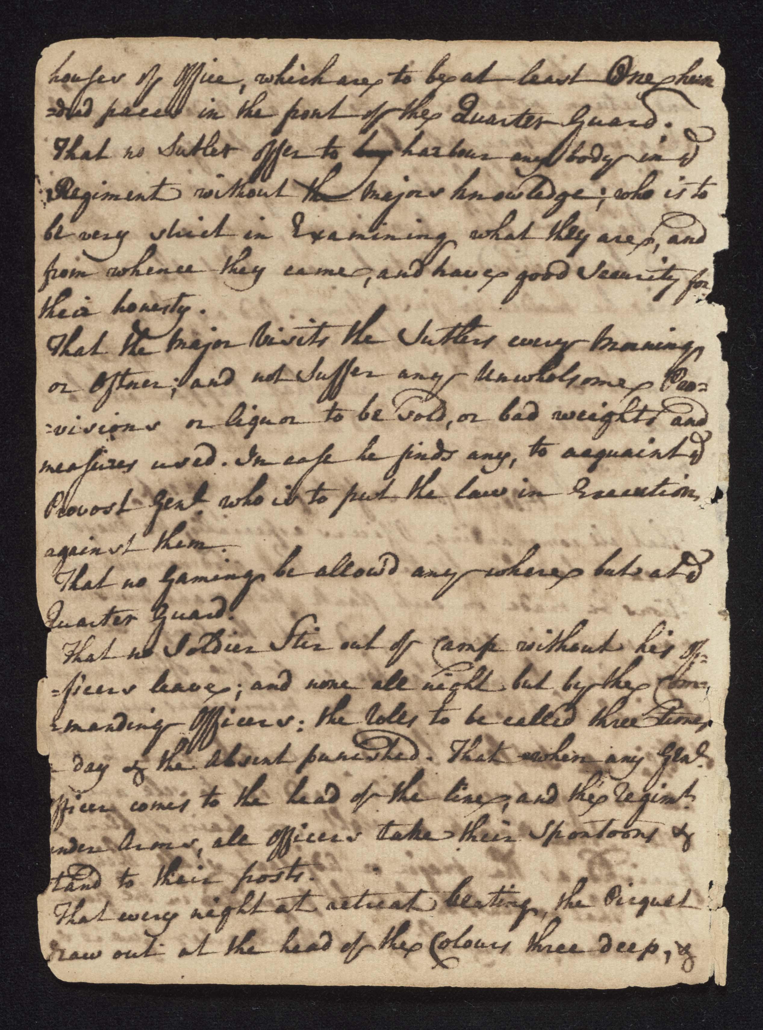 South Carolina Regiment Order Book, Page 4