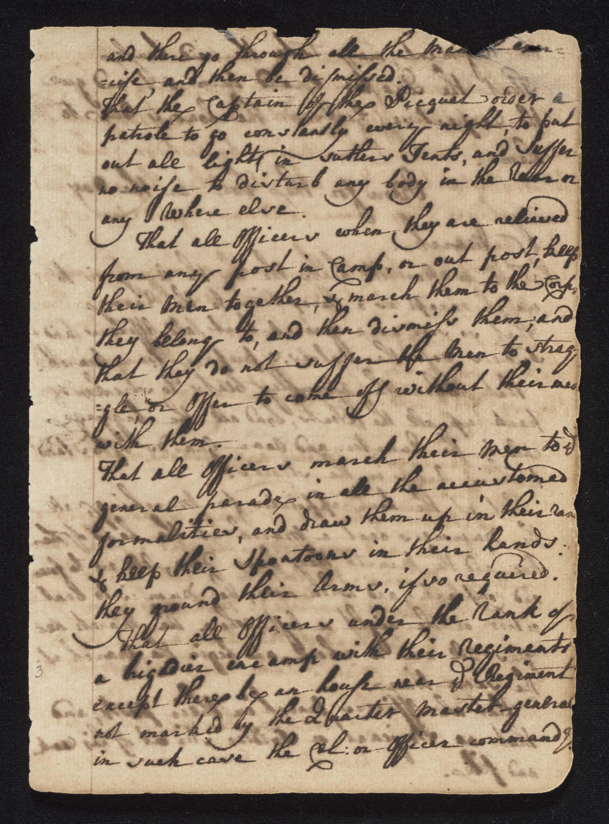South Carolina Regiment Order Book, Page 5
