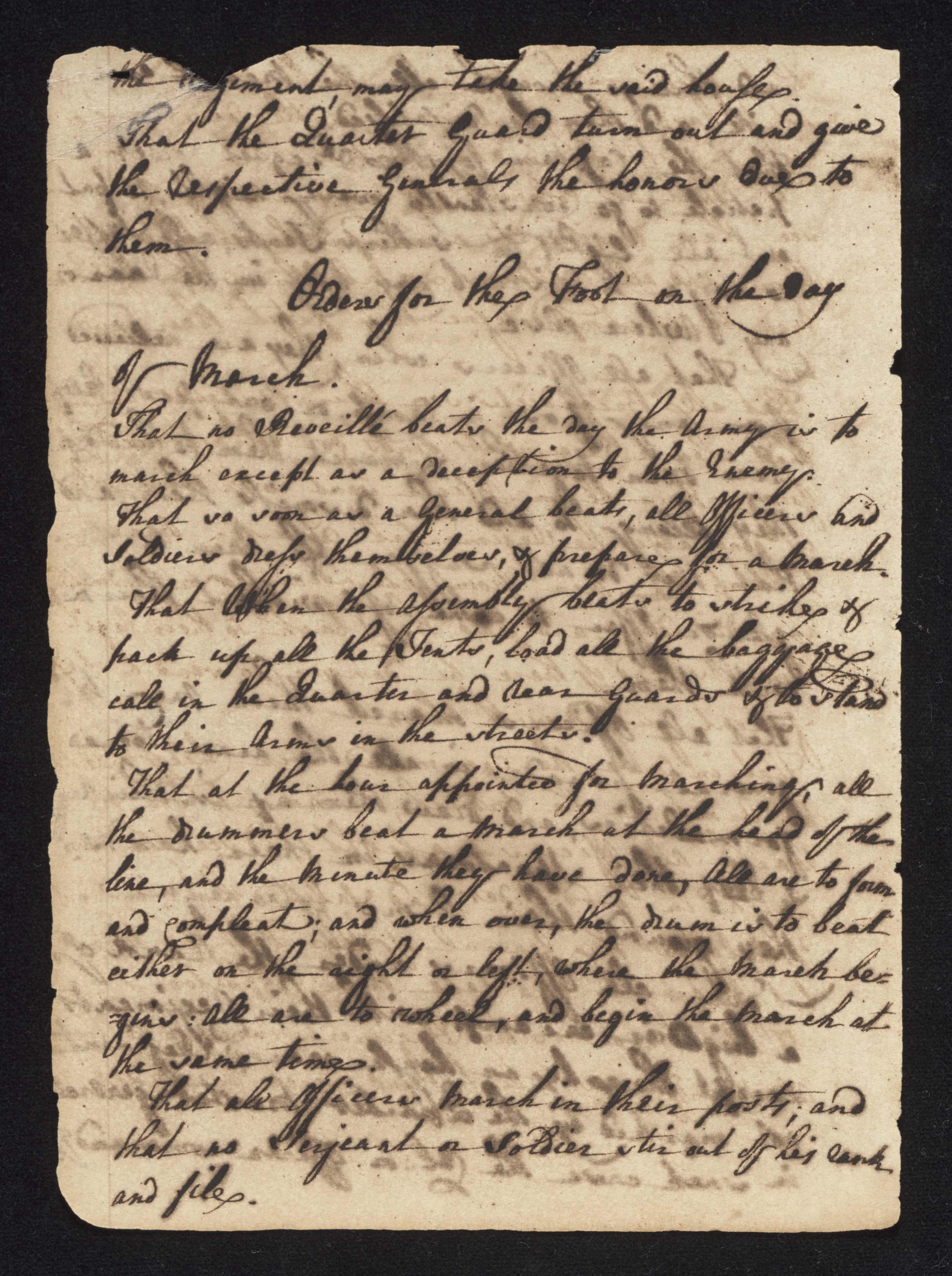 South Carolina Regiment Order Book, Page 6