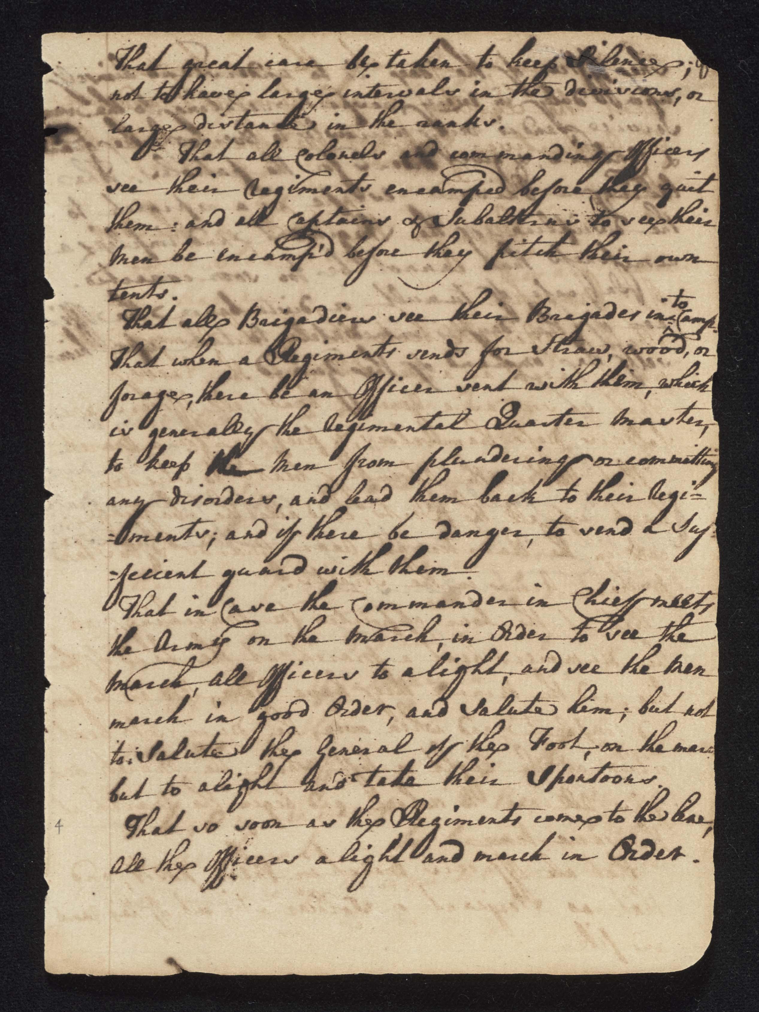 South Carolina Regiment Order Book, Page 7