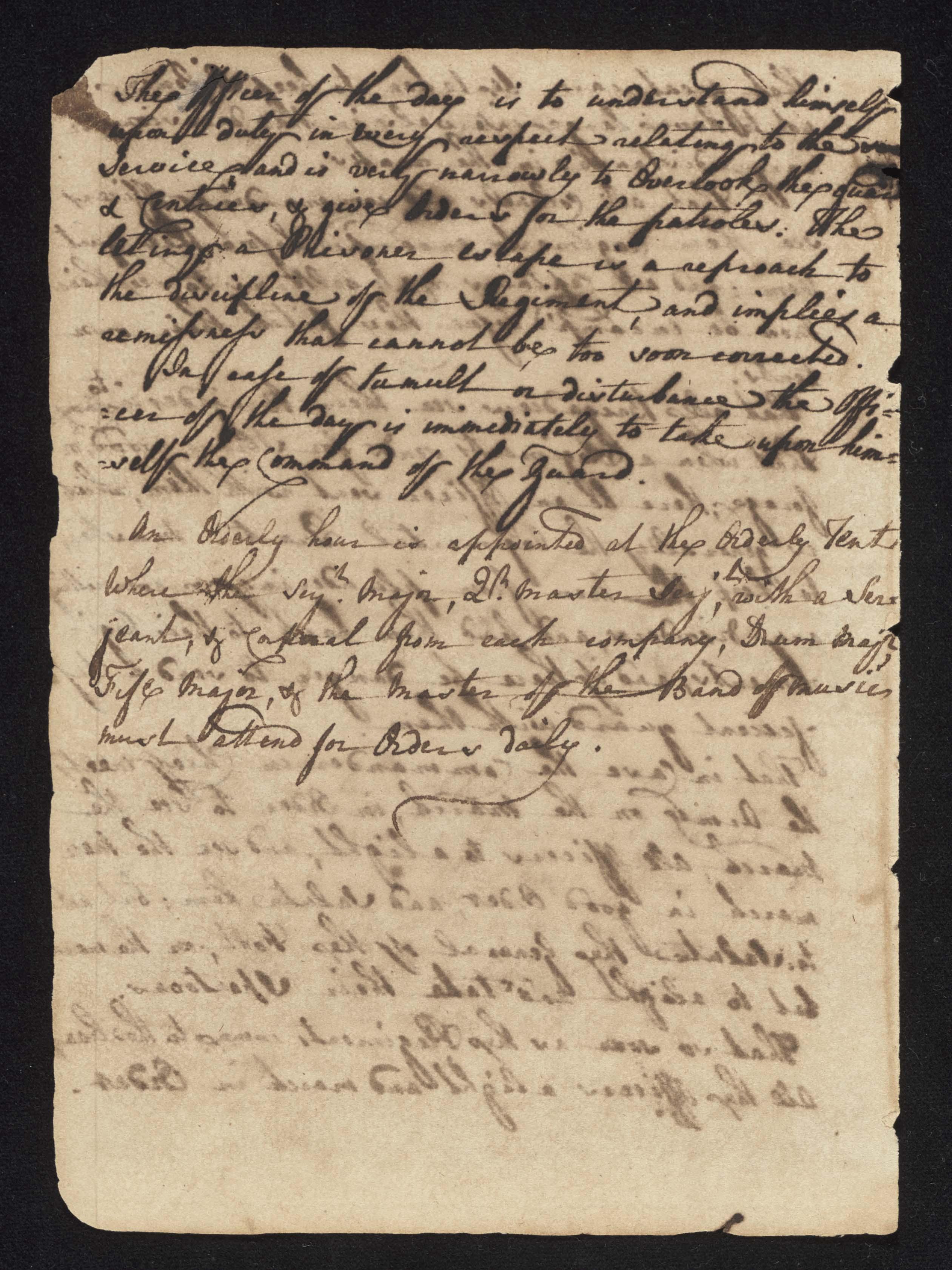 South Carolina Regiment Order Book, Page 8