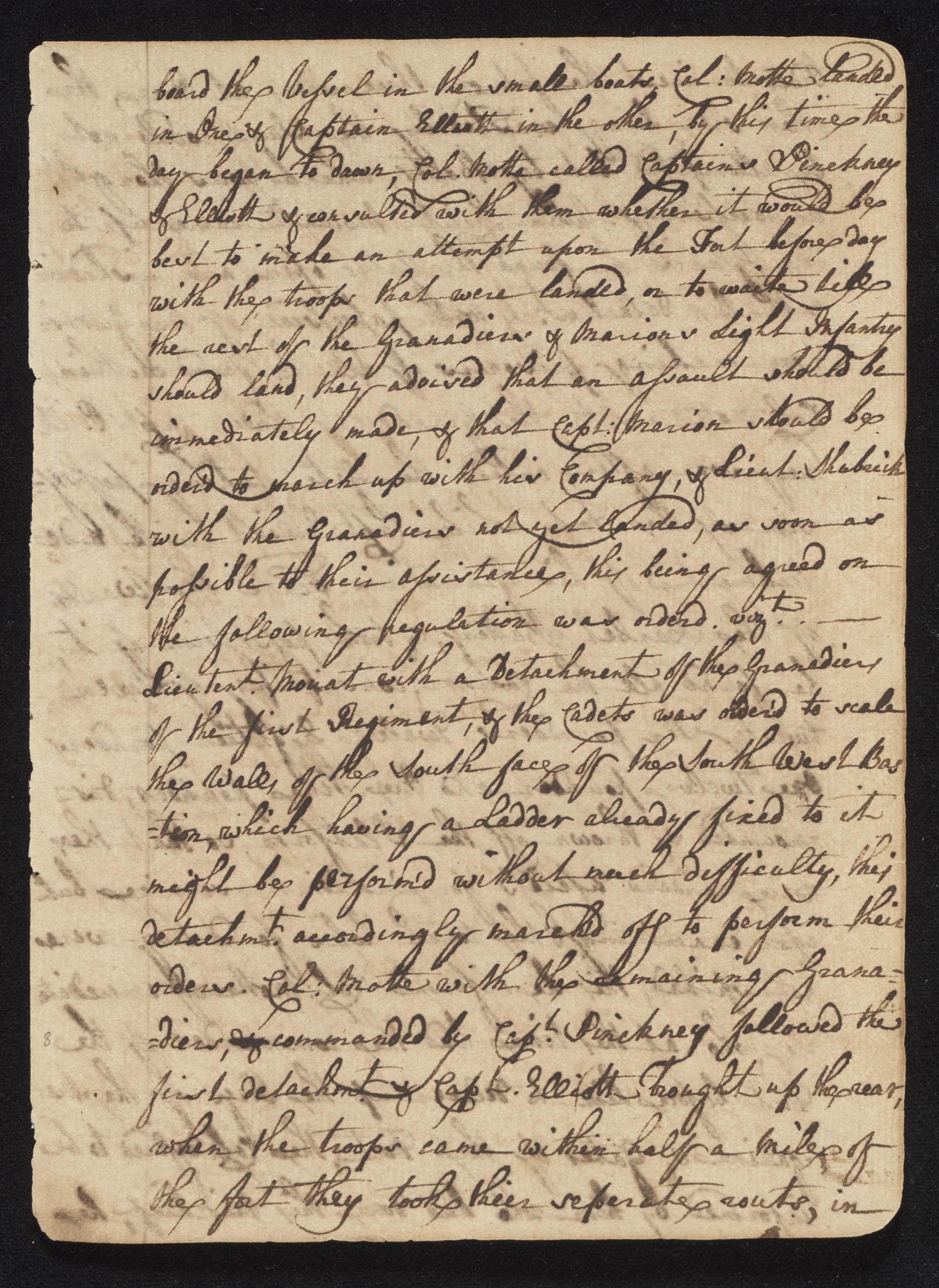 South Carolina Regiment Order Book, Page 15