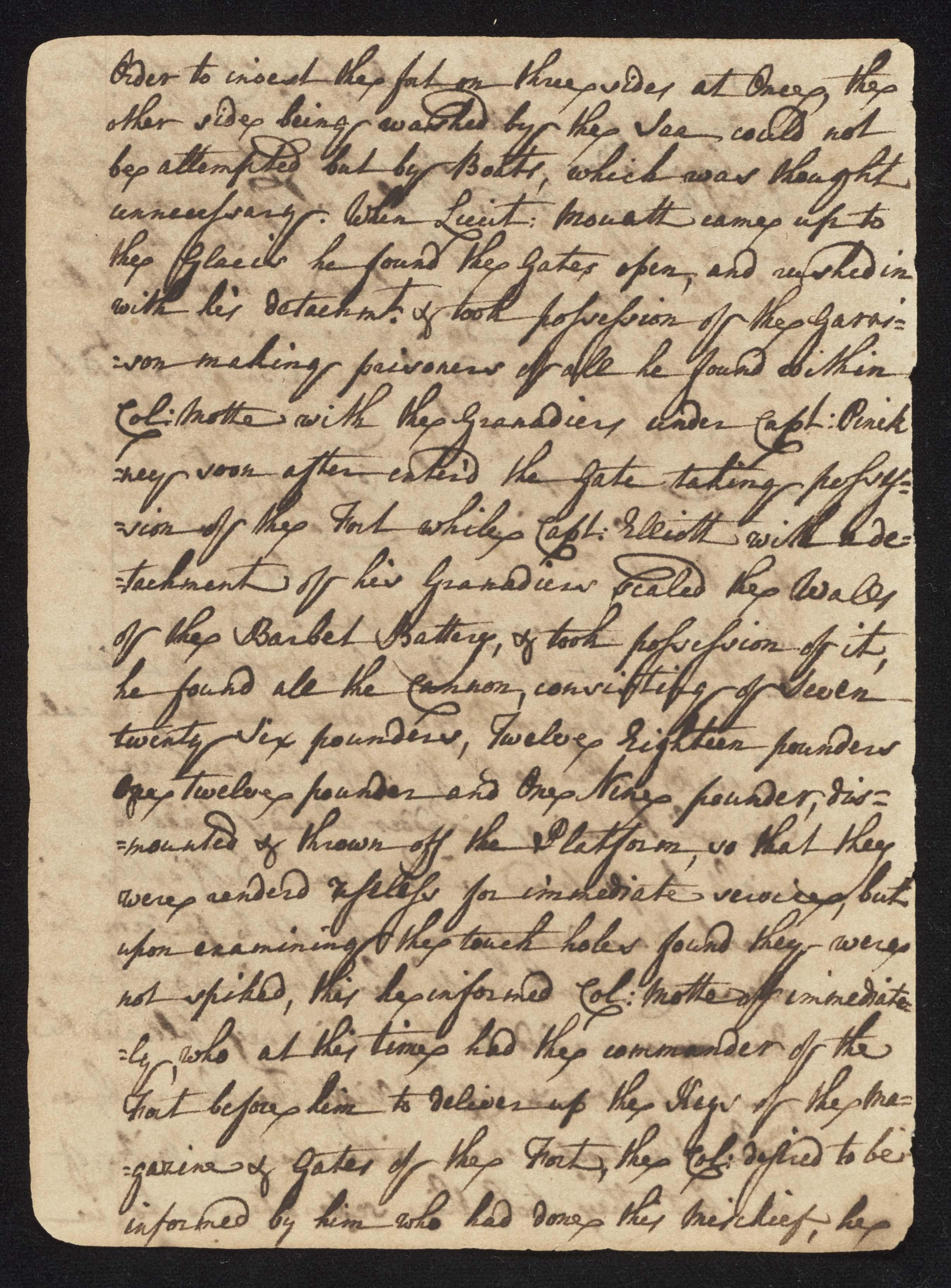 South Carolina Regiment Order Book, Page 16